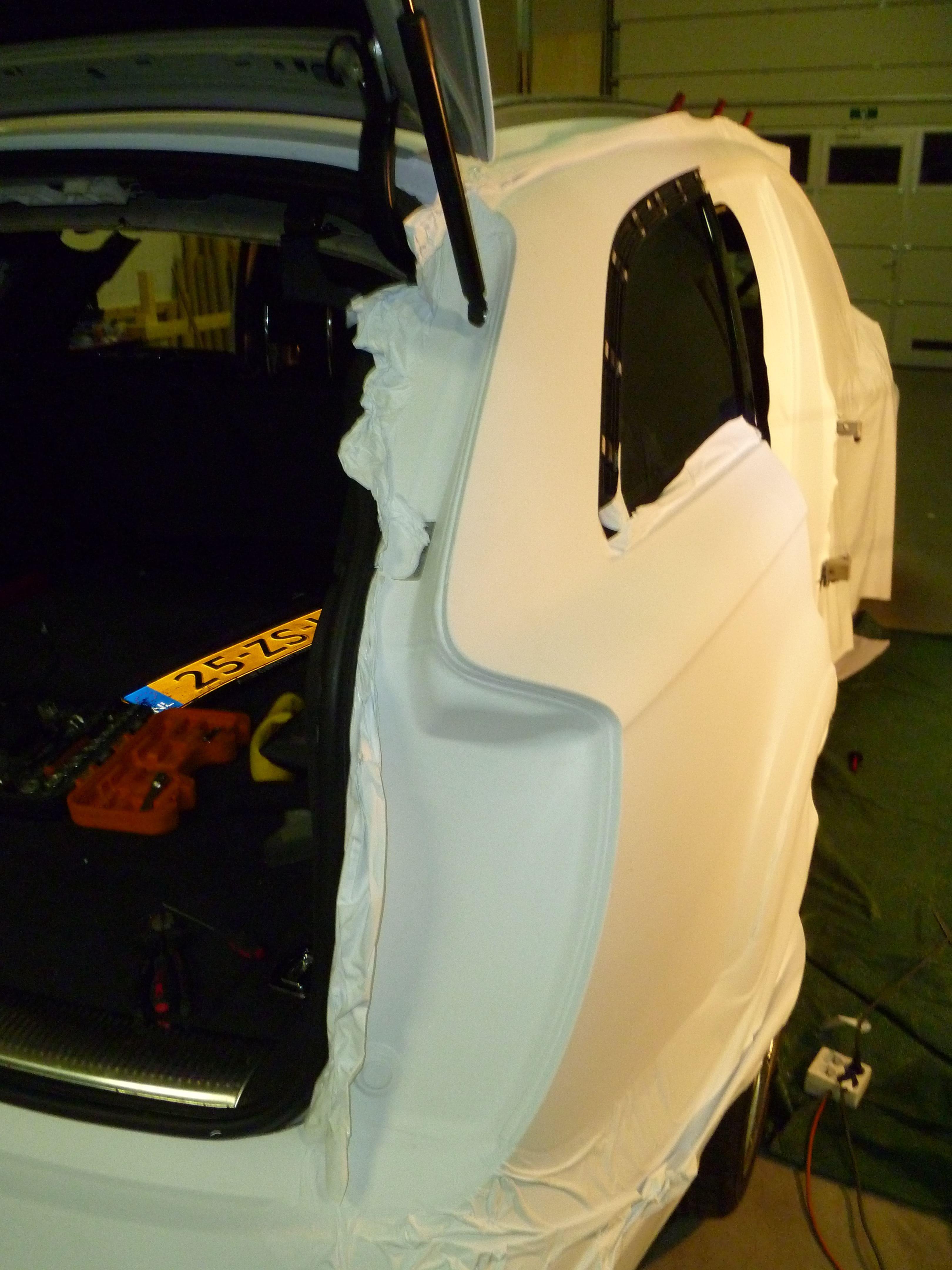 Audi Q7 met Mat Witte Wrap, Carwrapping door Wrapmyride.nu Foto-nr:5014, ©2021