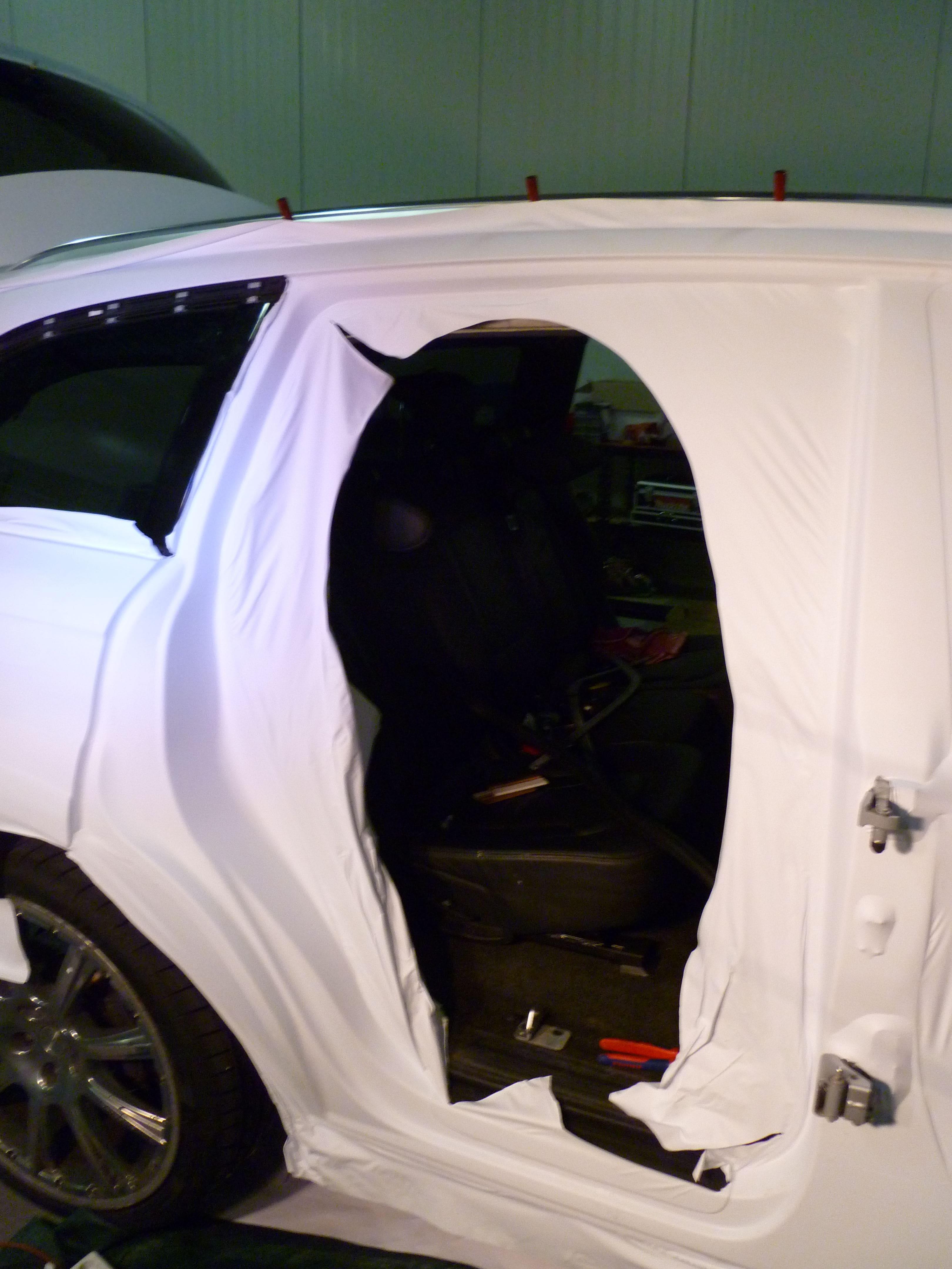 Audi Q7 met Mat Witte Wrap, Carwrapping door Wrapmyride.nu Foto-nr:5015, ©2021