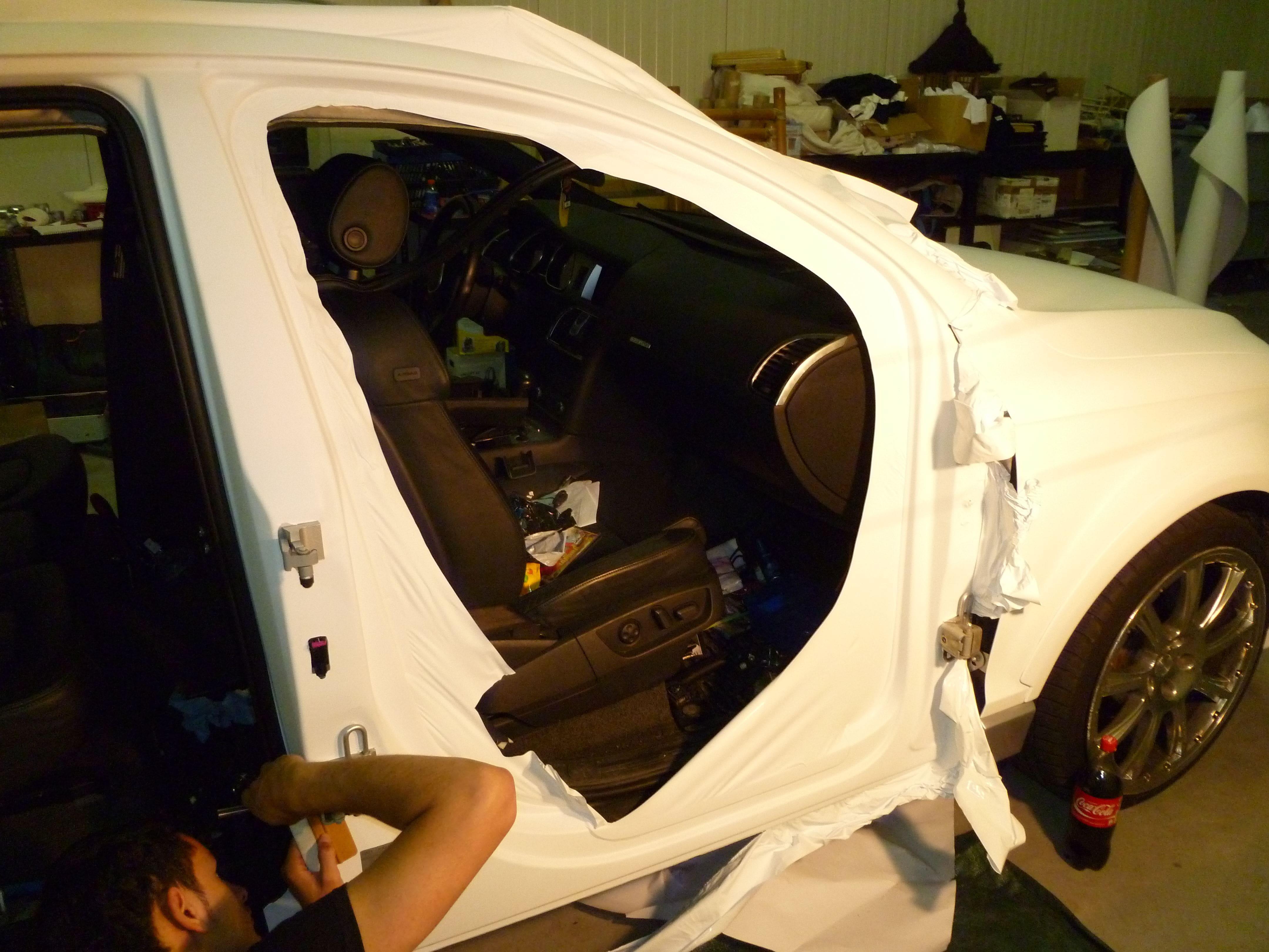 Audi Q7 met Mat Witte Wrap, Carwrapping door Wrapmyride.nu Foto-nr:5017, ©2021
