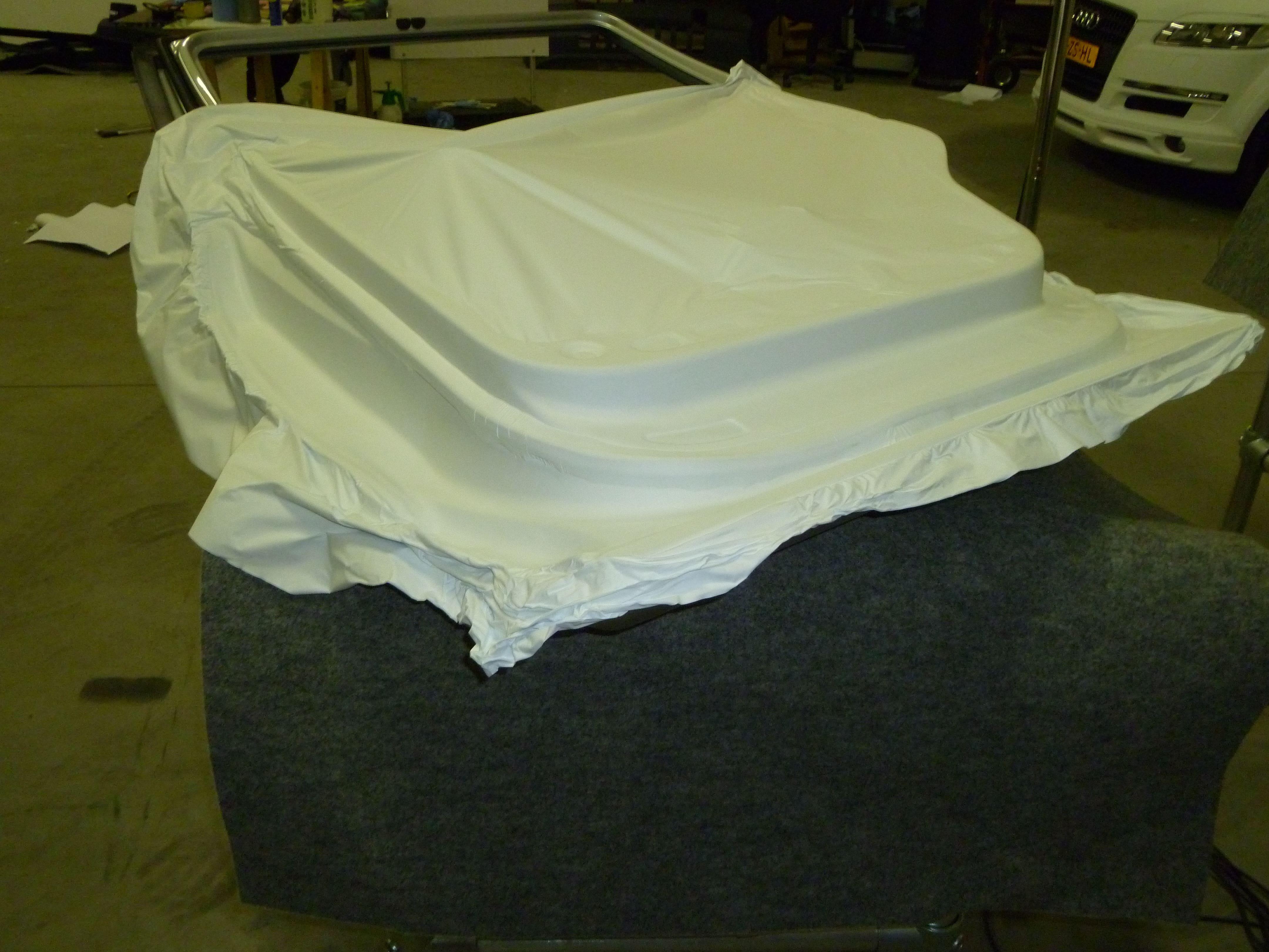 Audi Q7 met Mat Witte Wrap, Carwrapping door Wrapmyride.nu Foto-nr:5024, ©2021