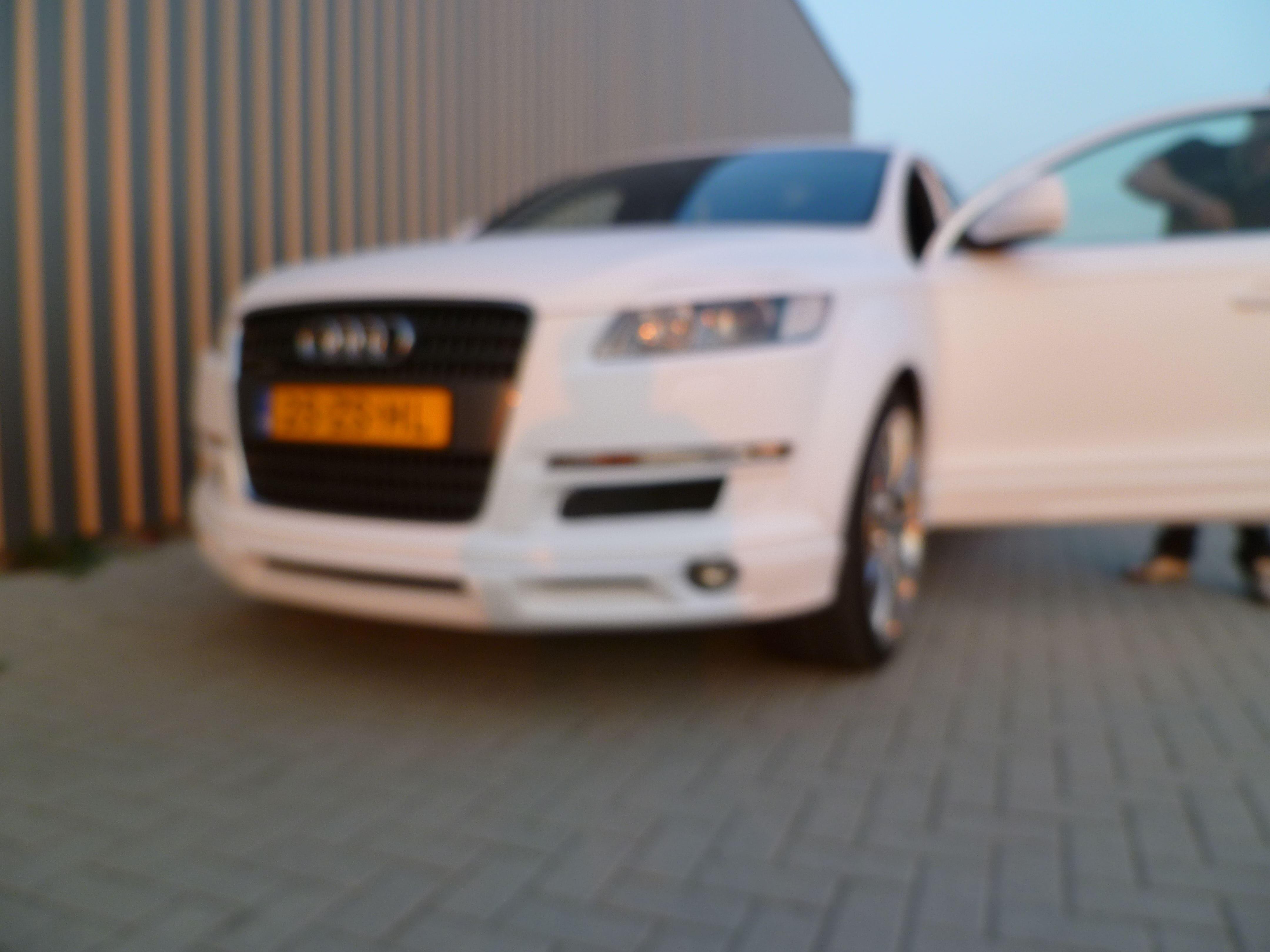 Audi Q7 met Mat Witte Wrap, Carwrapping door Wrapmyride.nu Foto-nr:5031, ©2021