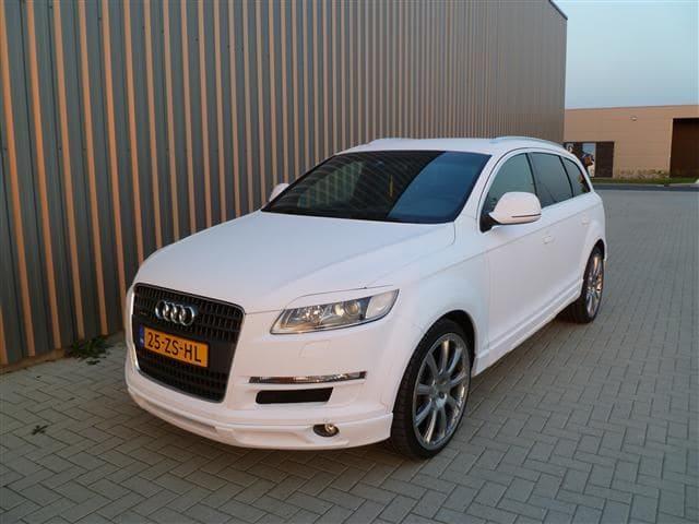 Audi Q7 met Mat Witte Wrap, Carwrapping door Wrapmyride.nu Foto-nr:5037, ©2021