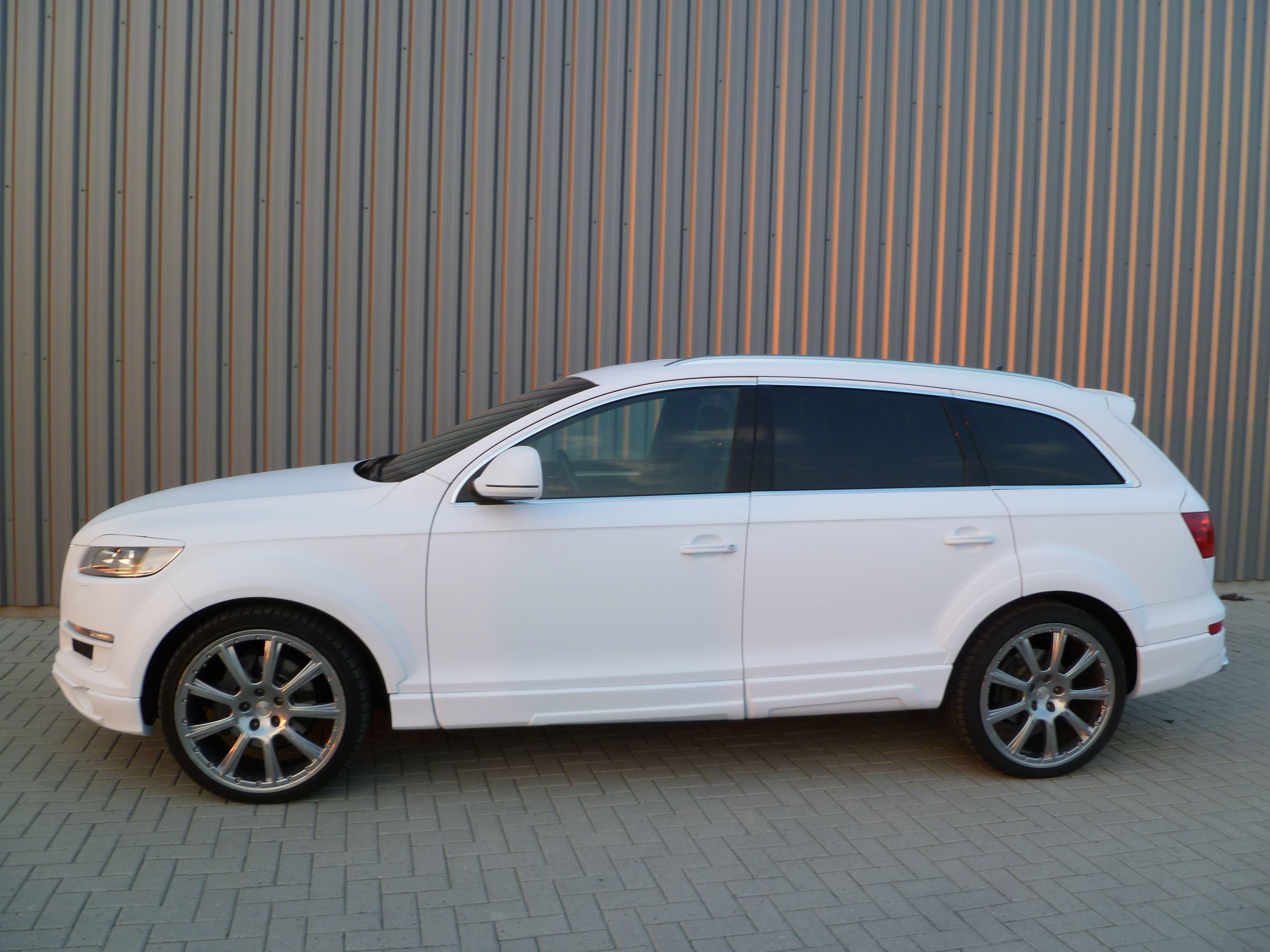 Audi Q7 met Mat Witte Wrap, Carwrapping door Wrapmyride.nu Foto-nr:5038, ©2021
