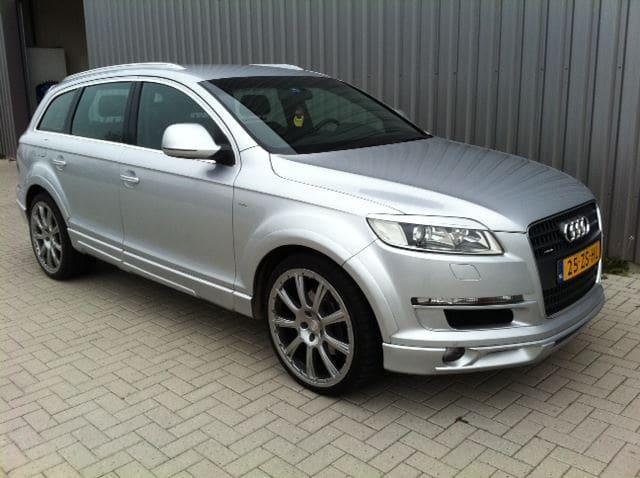 Audi Q7 met Mat Witte Wrap, Carwrapping door Wrapmyride.nu Foto-nr:4913, ©2021