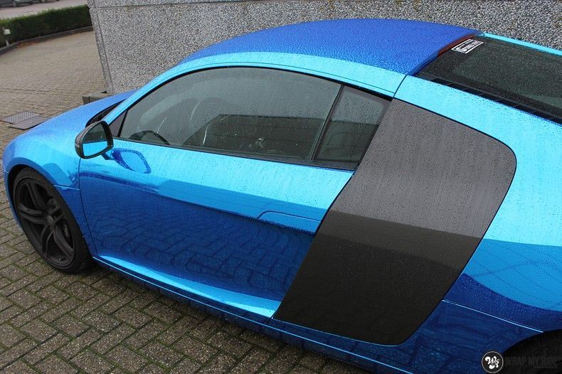 Audi R8 Bleu Chrome, Carwrapping door Wrapmyride.nu Foto-nr:10488, ©2018