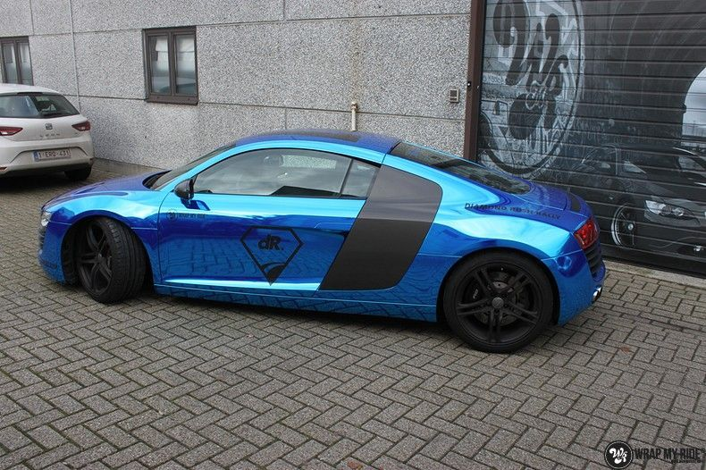 Audi R8 Bleu Chrome, Carwrapping door Wrapmyride.nu Foto-nr:10486, ©2019