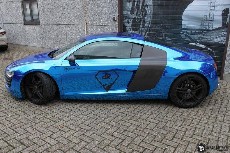 Audi R8 Bleu Chrome, Carwrapping door Wrapmyride.nu Foto-nr:10485, ©2018