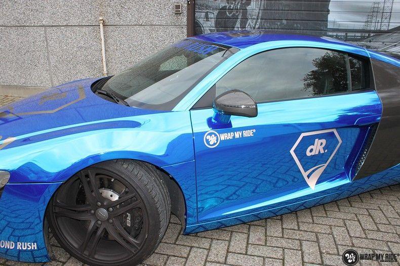Audi R8 Bleu Chrome, Carwrapping door Wrapmyride.nu Foto-nr:10480, ©2019