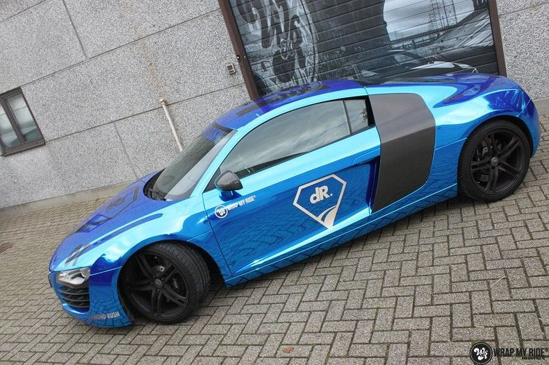 Audi R8 Bleu Chrome, Carwrapping door Wrapmyride.nu Foto-nr:10470, ©2019