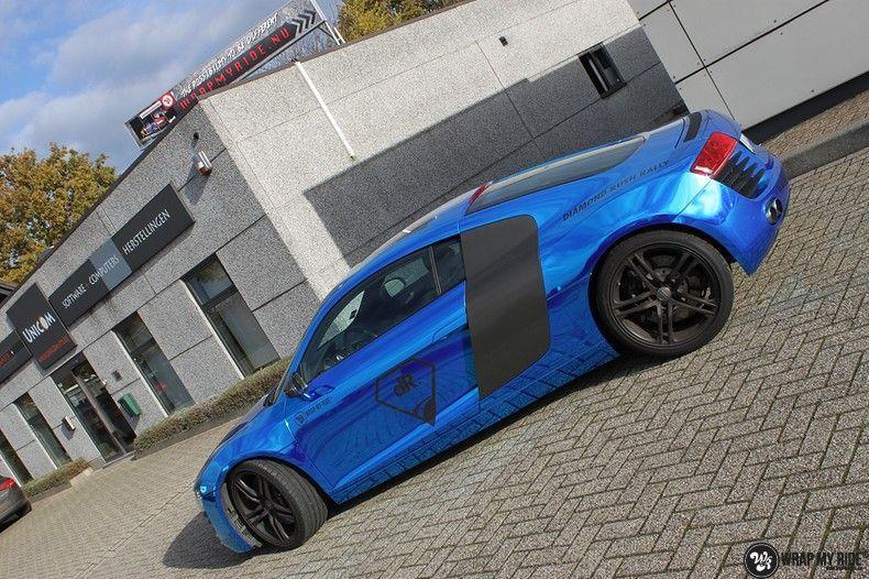 Audi R8 Bleu Chrome, Carwrapping door Wrapmyride.nu Foto-nr:10466, ©2018