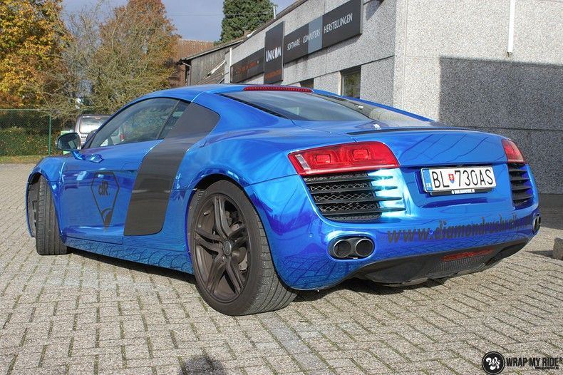Audi R8 Bleu Chrome, Carwrapping door Wrapmyride.nu Foto-nr:10465, ©2021