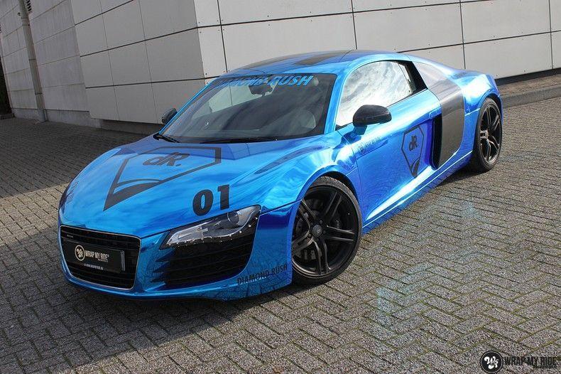 Audi R8 Bleu Chrome, Carwrapping door Wrapmyride.nu Foto-nr:10464, ©2021