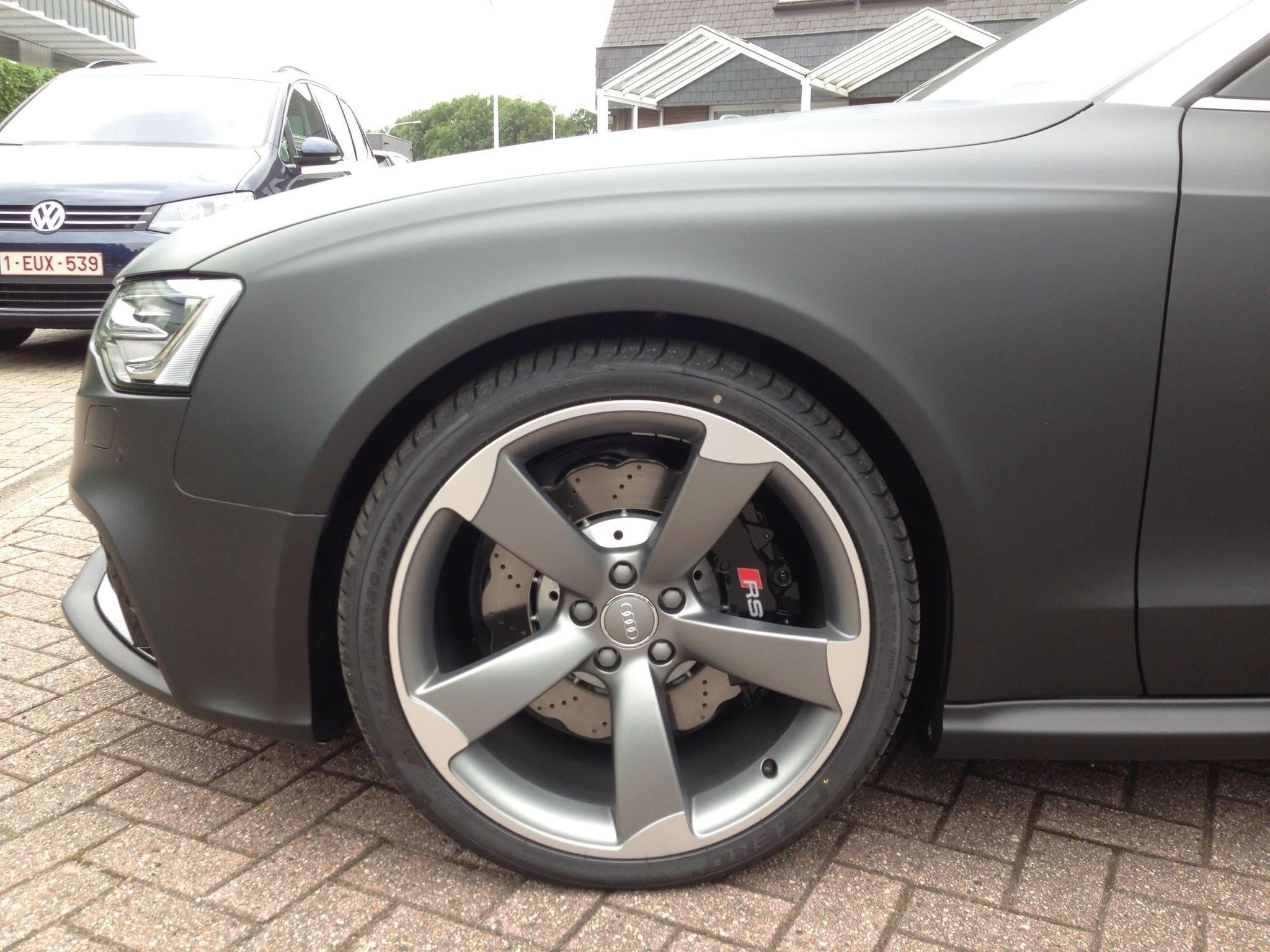 Audi RS5 Cabrio met Mat Zwarte Wrap, Carwrapping door Wrapmyride.nu Foto-nr:5065, ©2021