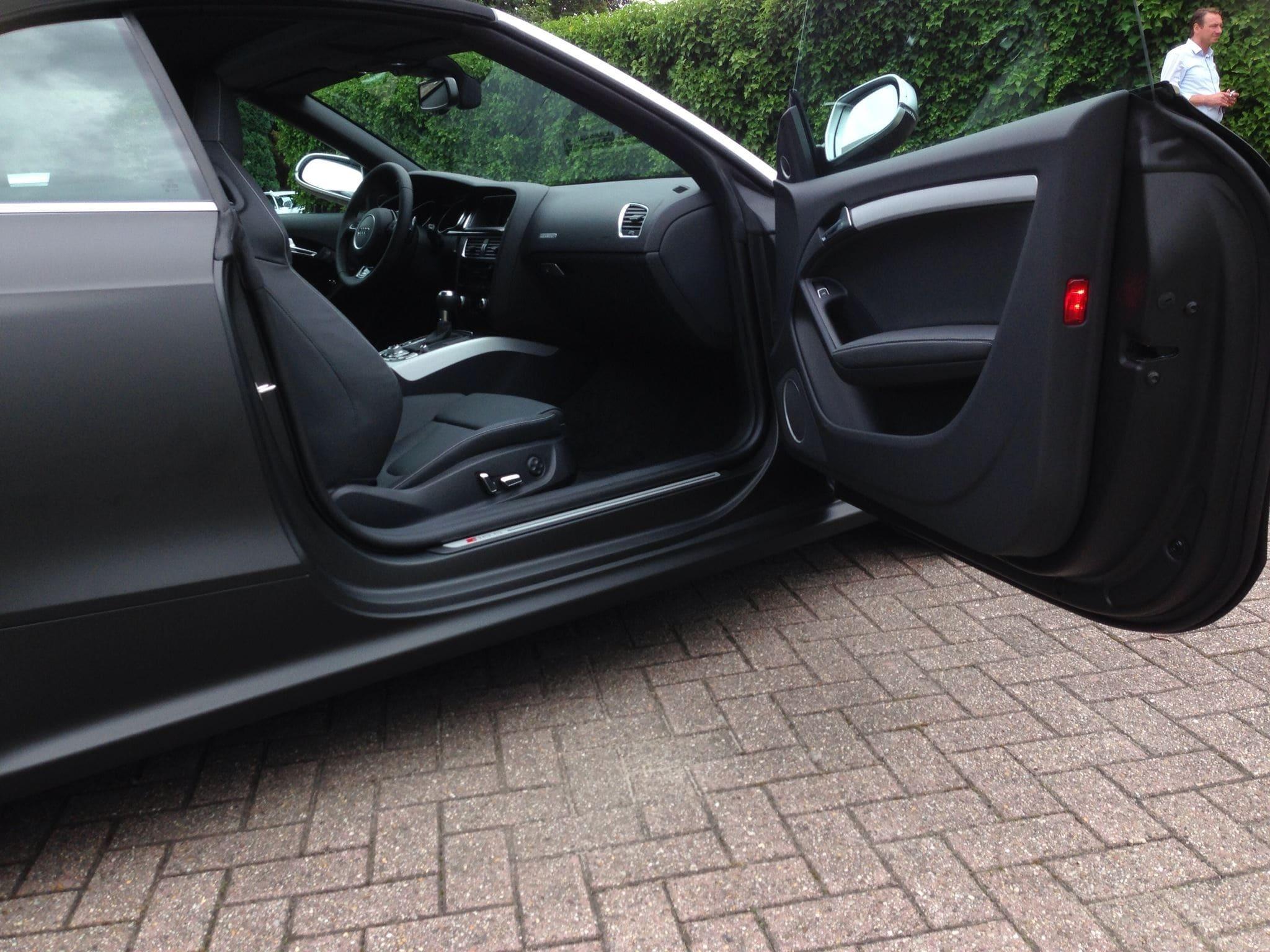 Audi RS5 Cabrio met Mat Zwarte Wrap, Carwrapping door Wrapmyride.nu Foto-nr:5068, ©2021