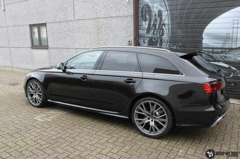 Audi RS6 glanzend metallic zwart, Carwrapping door Wrapmyride.nu Foto-nr:10443, ©2020