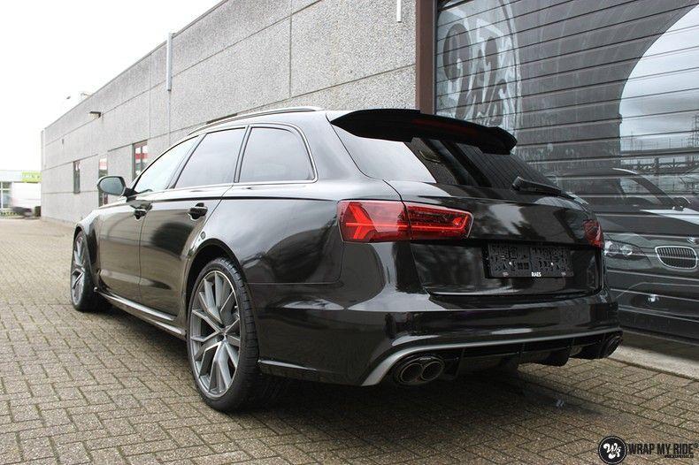 Audi RS6 glanzend metallic zwart, Carwrapping door Wrapmyride.nu Foto-nr:10442, ©2018