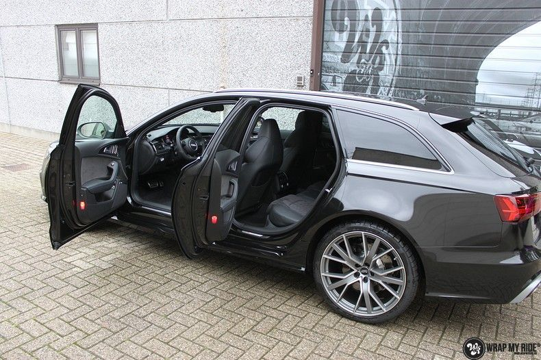 Audi RS6 glanzend metallic zwart, Carwrapping door Wrapmyride.nu Foto-nr:10441, ©2018