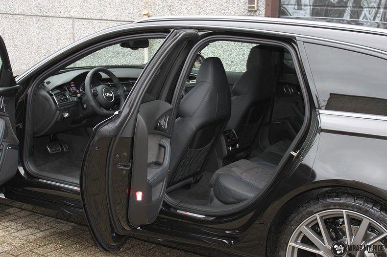 Audi RS6 glanzend metallic zwart, Carwrapping door Wrapmyride.nu Foto-nr:10440, ©2018