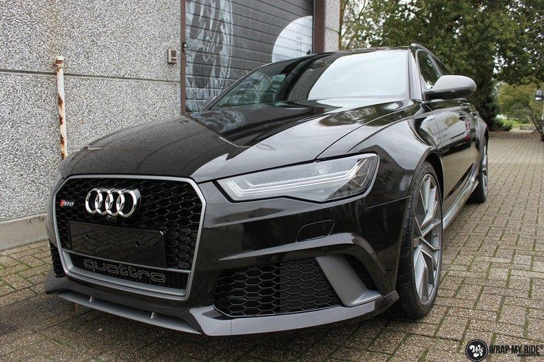 Audi RS6 glanzend metallic zwart, Carwrapping door Wrapmyride.nu Foto-nr:10433, ©2021