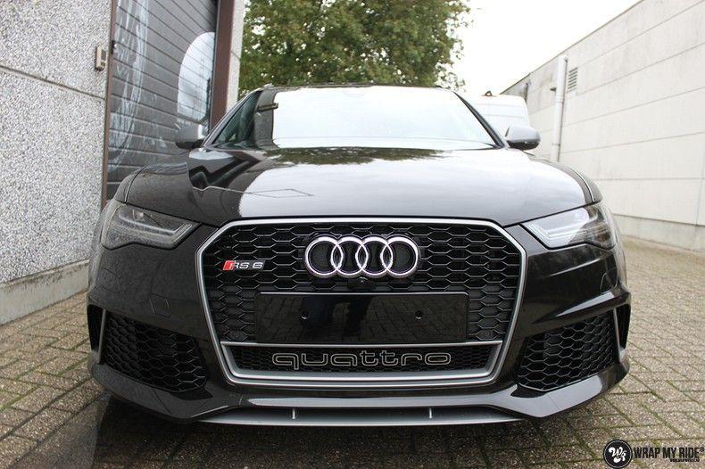 Audi RS6 glanzend metallic zwart, Carwrapping door Wrapmyride.nu Foto-nr:10432, ©2018