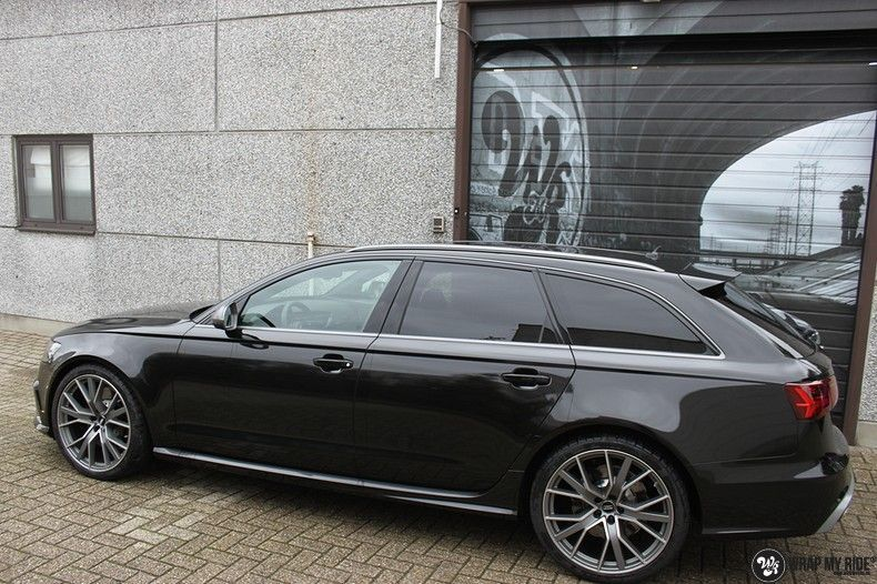 Audi RS6 glanzend metallic zwart, Carwrapping door Wrapmyride.nu Foto-nr:10426, ©2018
