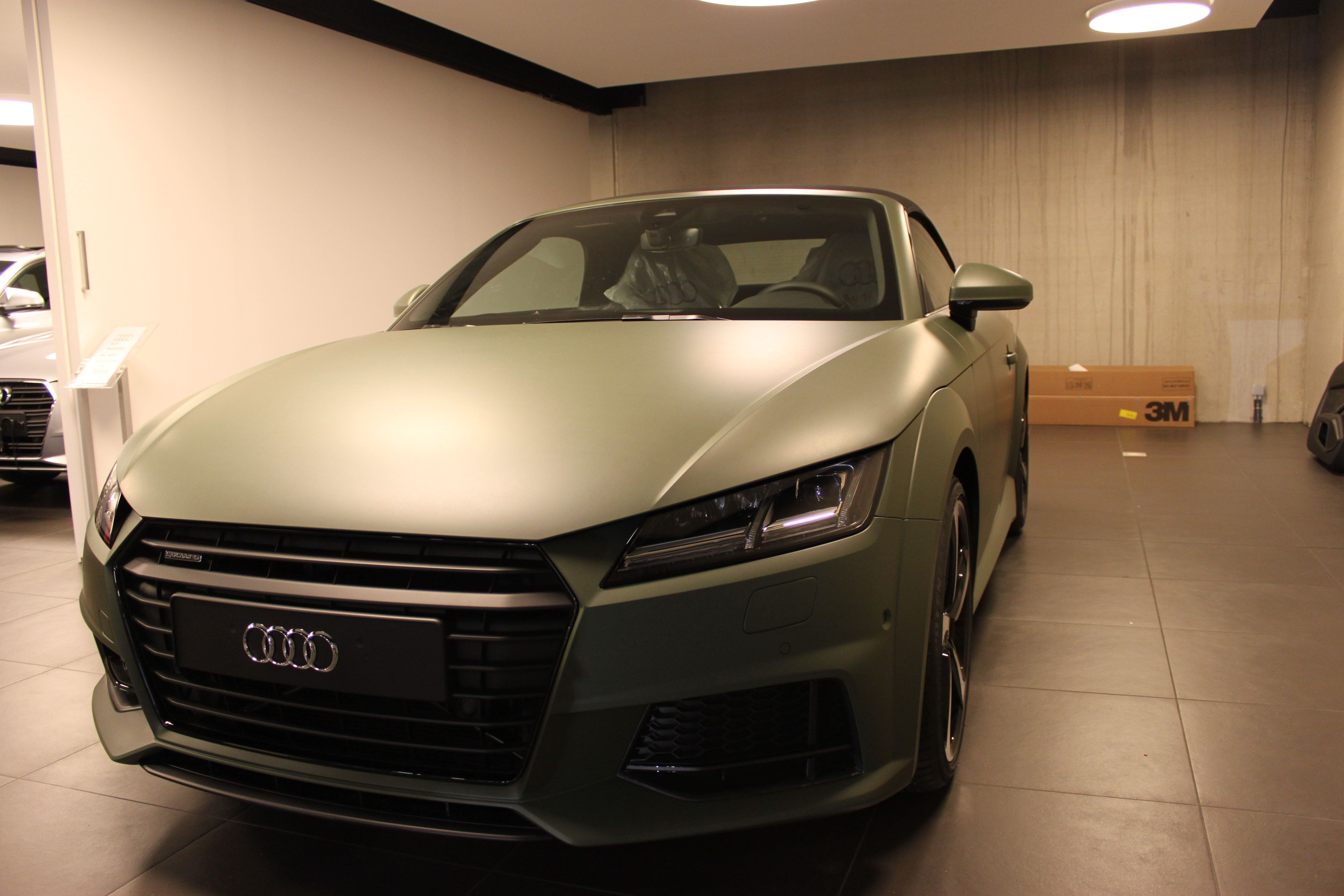 audi TT 2017 matte military green, Carwrapping door Wrapmyride.nu Foto-nr:9278, ©2021