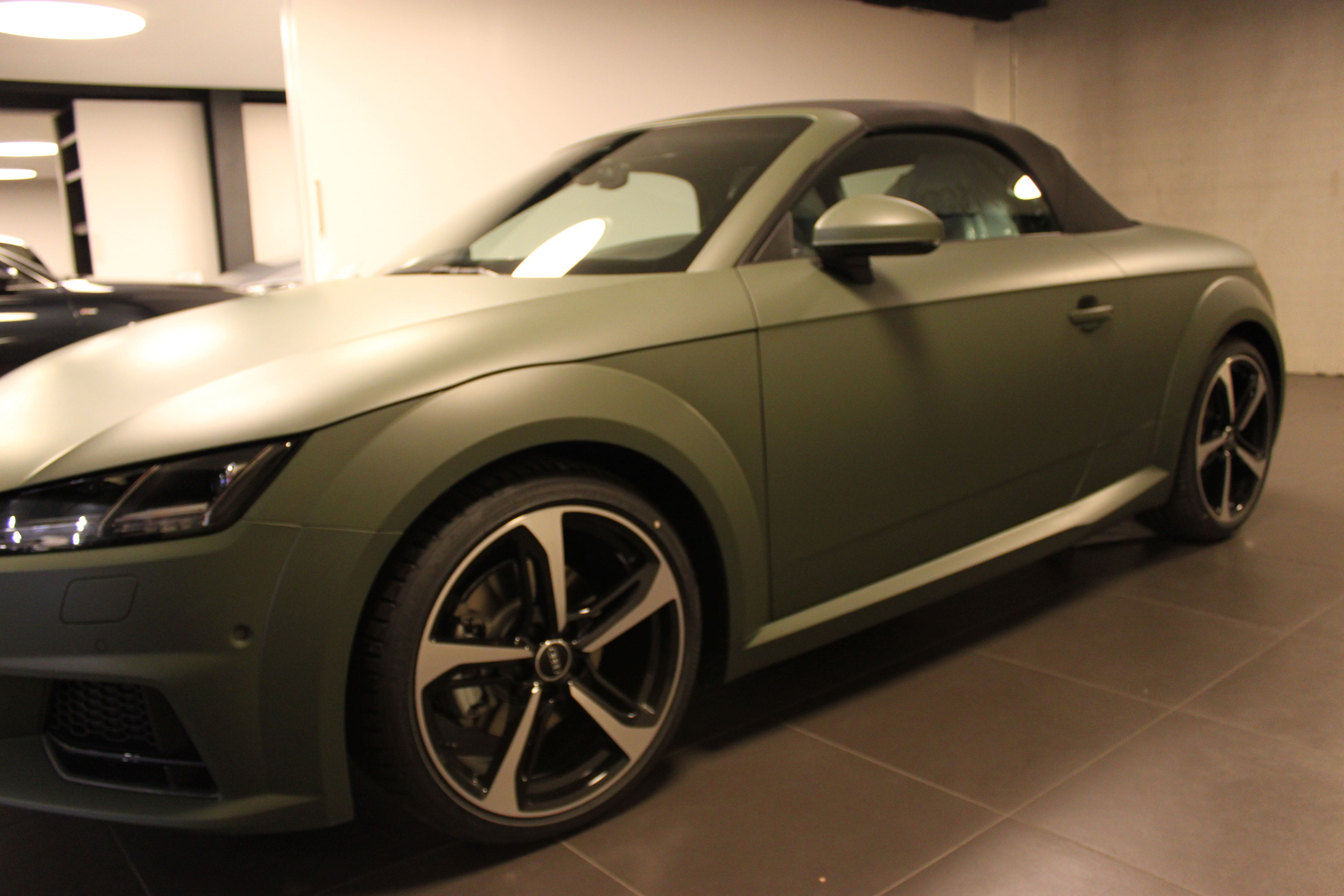 audi TT 2017 matte military green, Carwrapping door Wrapmyride.nu Foto-nr:9277, ©2021