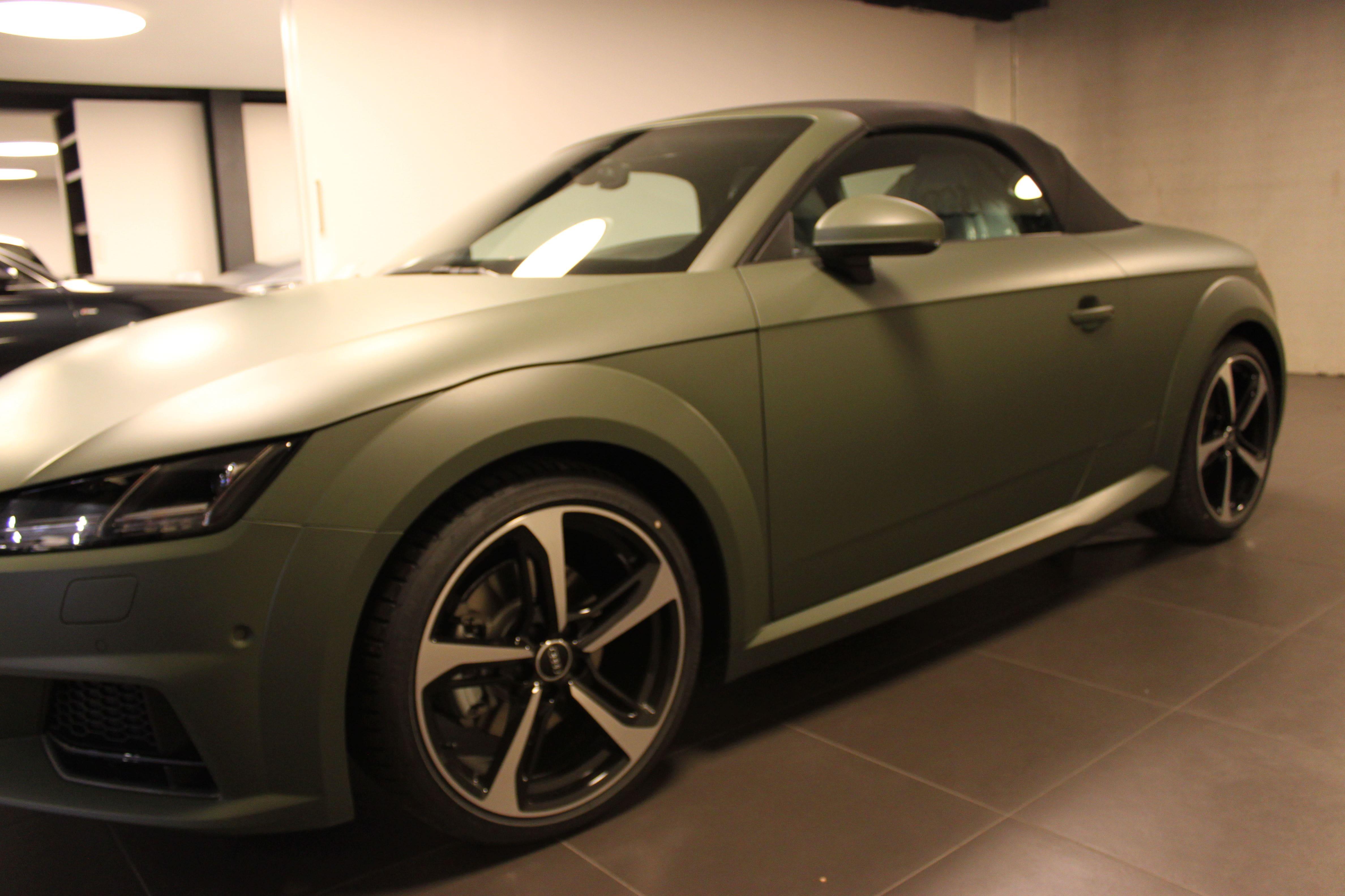 audi TT 2017 matte military green, Carwrapping door Wrapmyride.nu Foto-nr:9277, ©2020