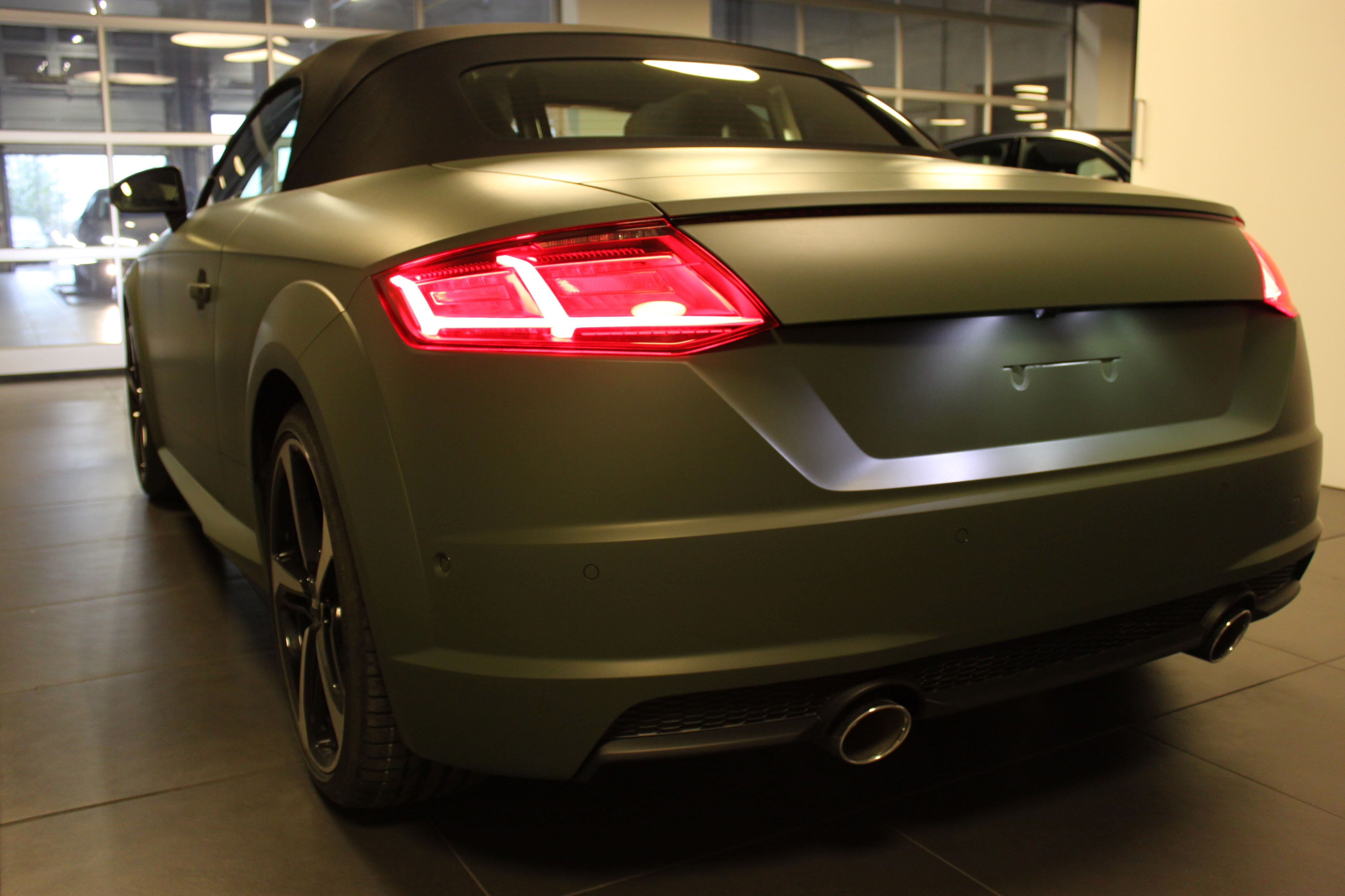 audi TT 2017 matte military green, Carwrapping door Wrapmyride.nu Foto-nr:9274, ©2021