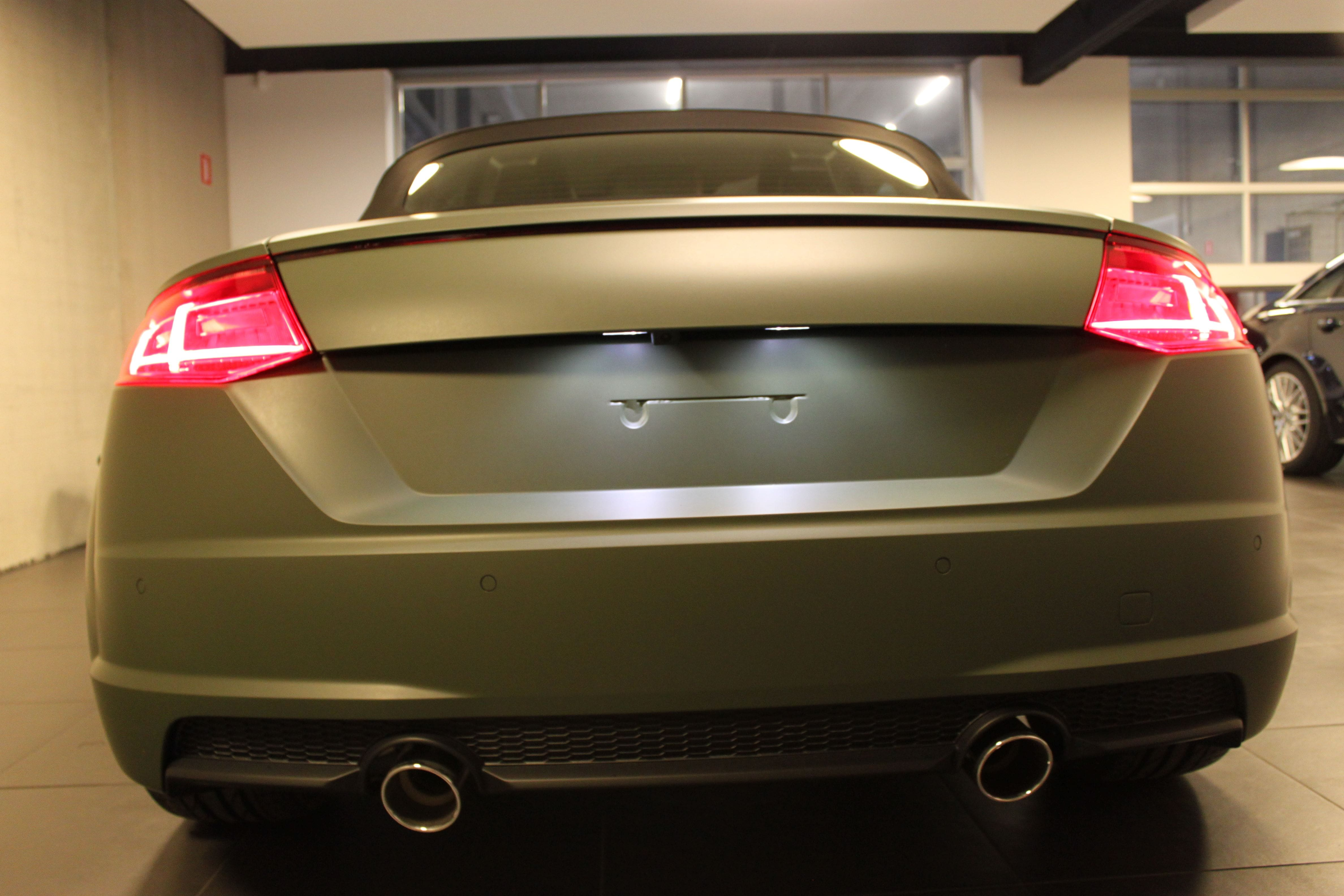 audi TT 2017 matte military green, Carwrapping door Wrapmyride.nu Foto-nr:9272, ©2021