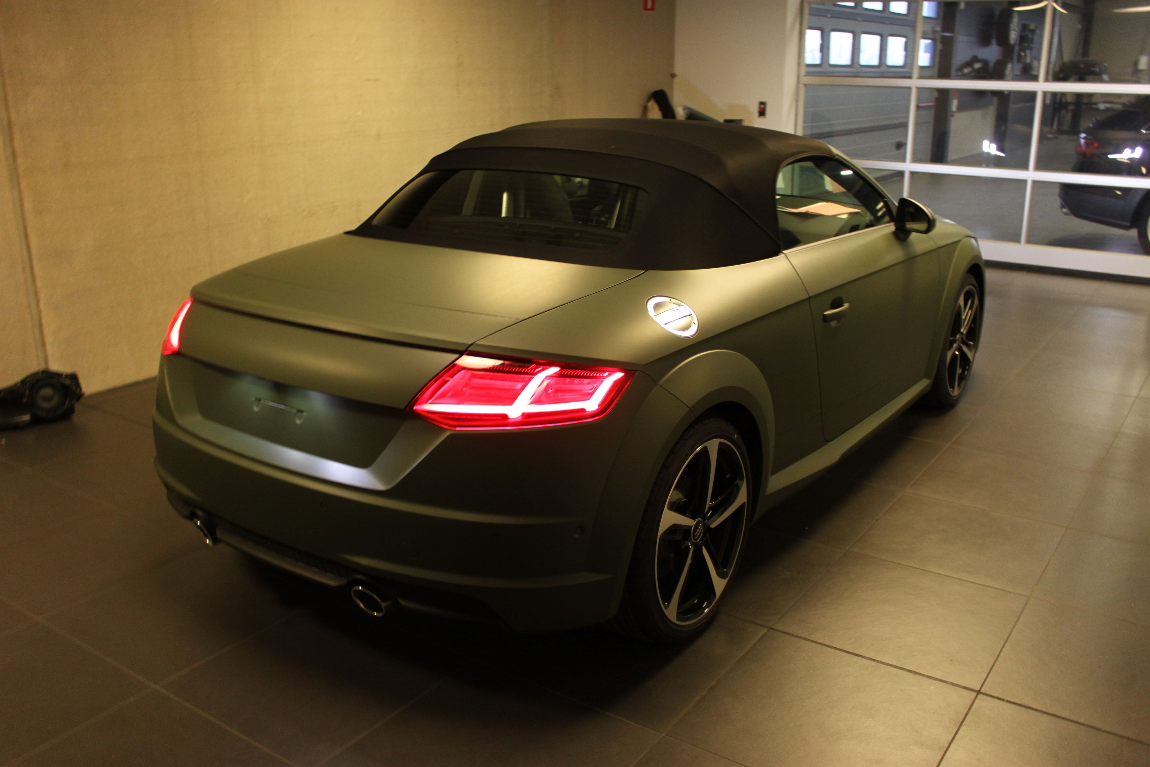 audi TT 2017 matte military green, Carwrapping door Wrapmyride.nu Foto-nr:9271, ©2021