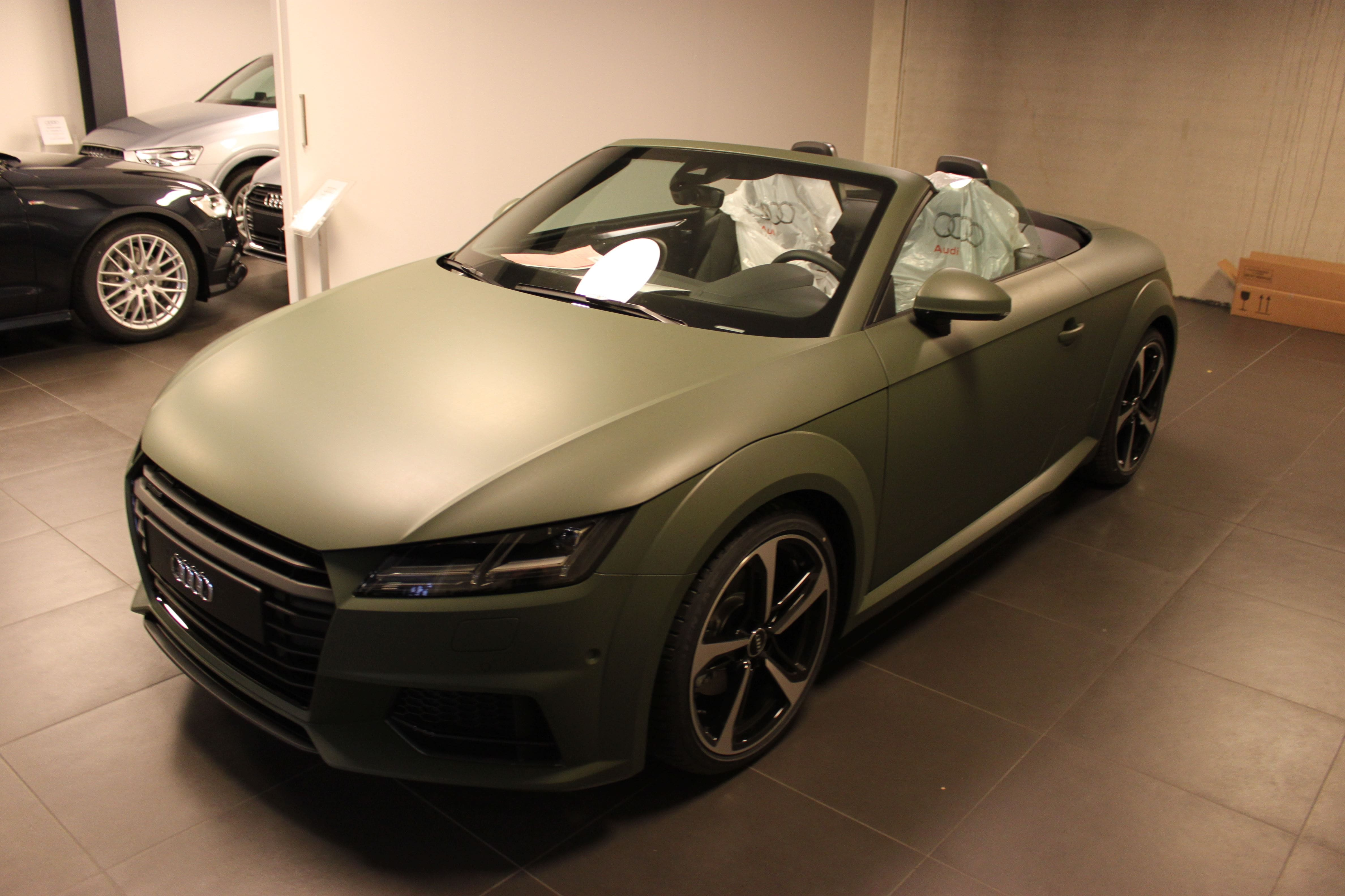 audi TT 2017 matte military green, Carwrapping door Wrapmyride.nu Foto-nr:9269, ©2021