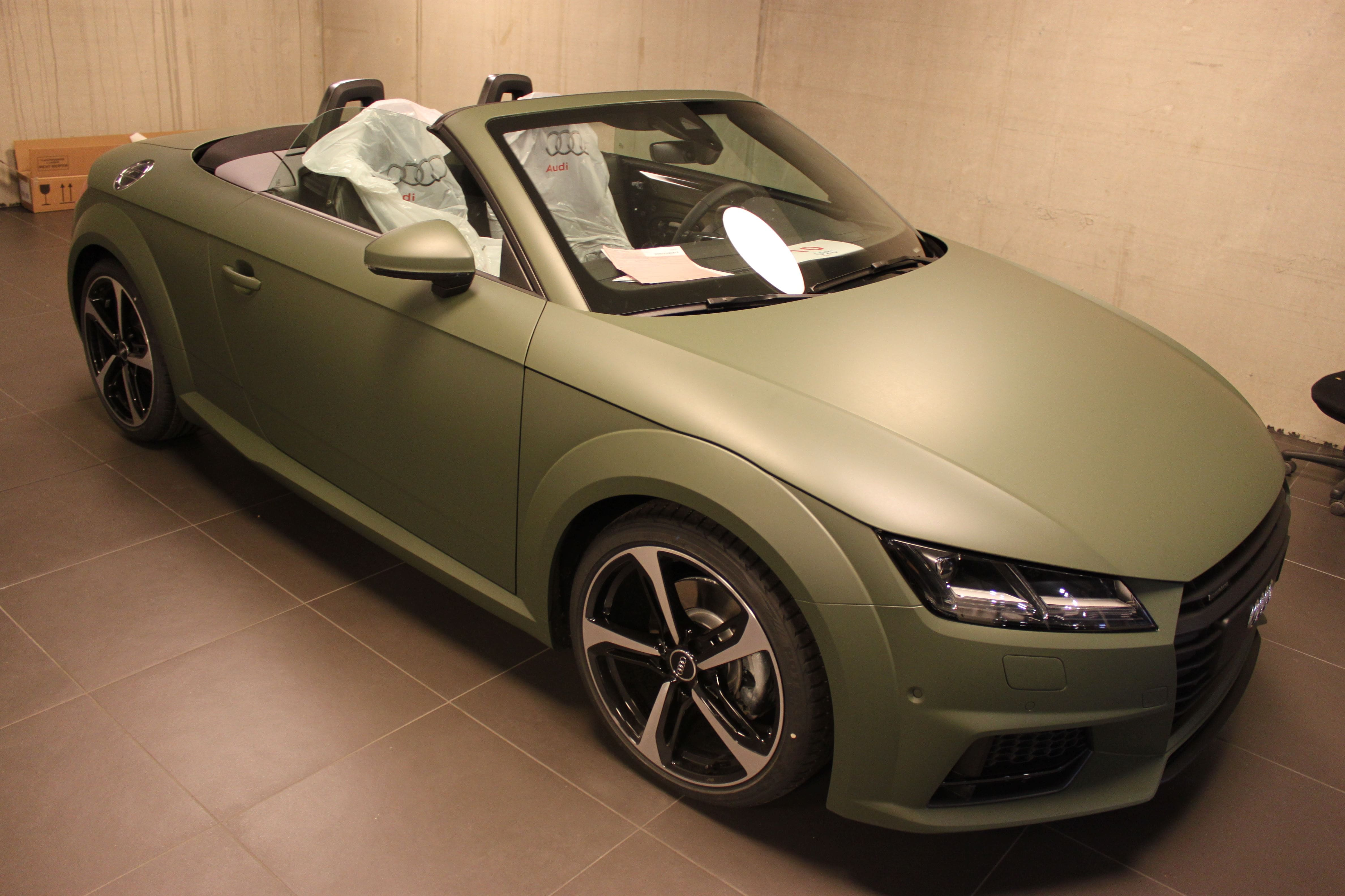 audi TT 2017 matte military green, Carwrapping door Wrapmyride.nu Foto-nr:9268, ©2021