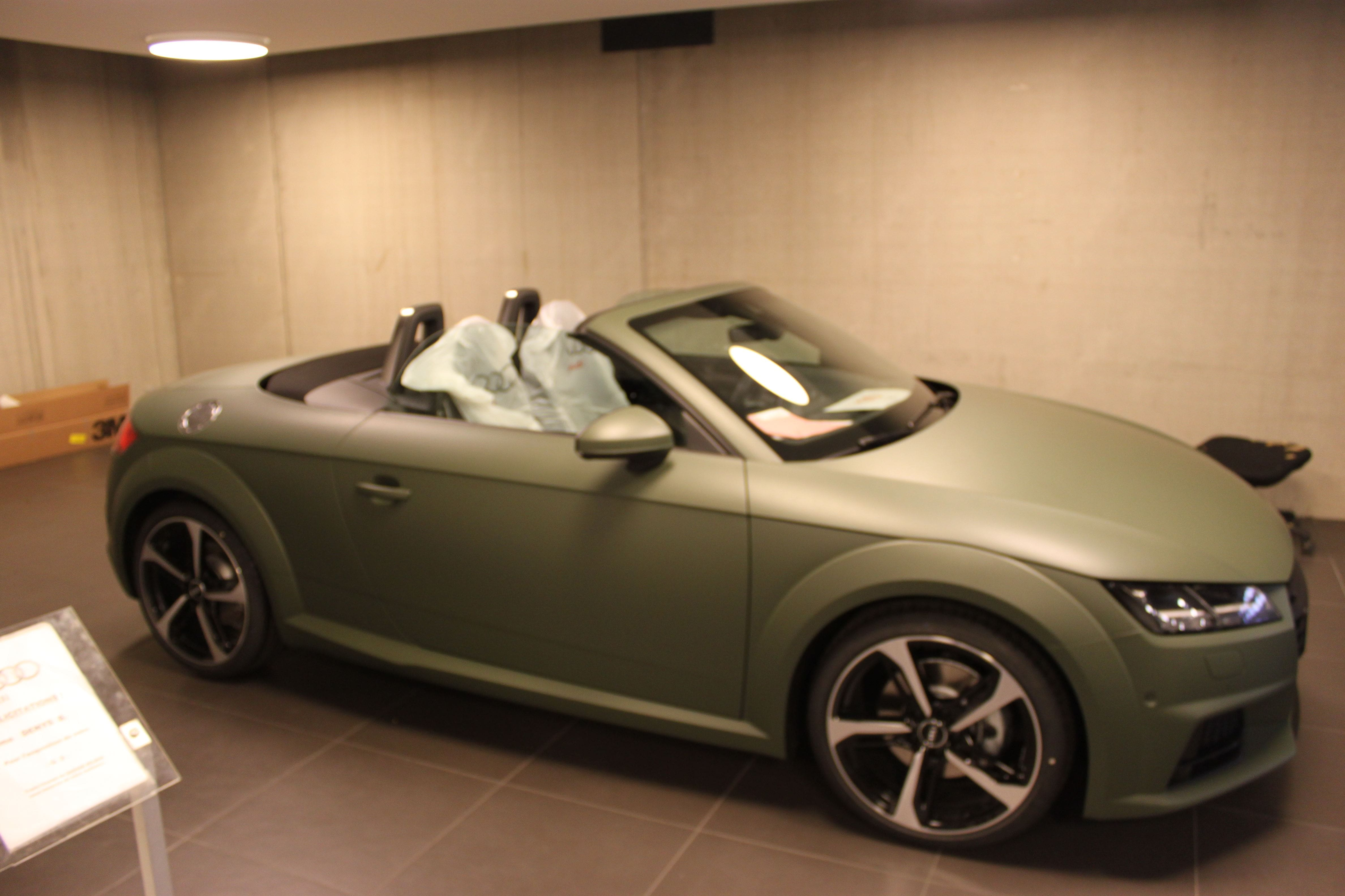 audi TT 2017 matte military green, Carwrapping door Wrapmyride.nu Foto-nr:9267, ©2021