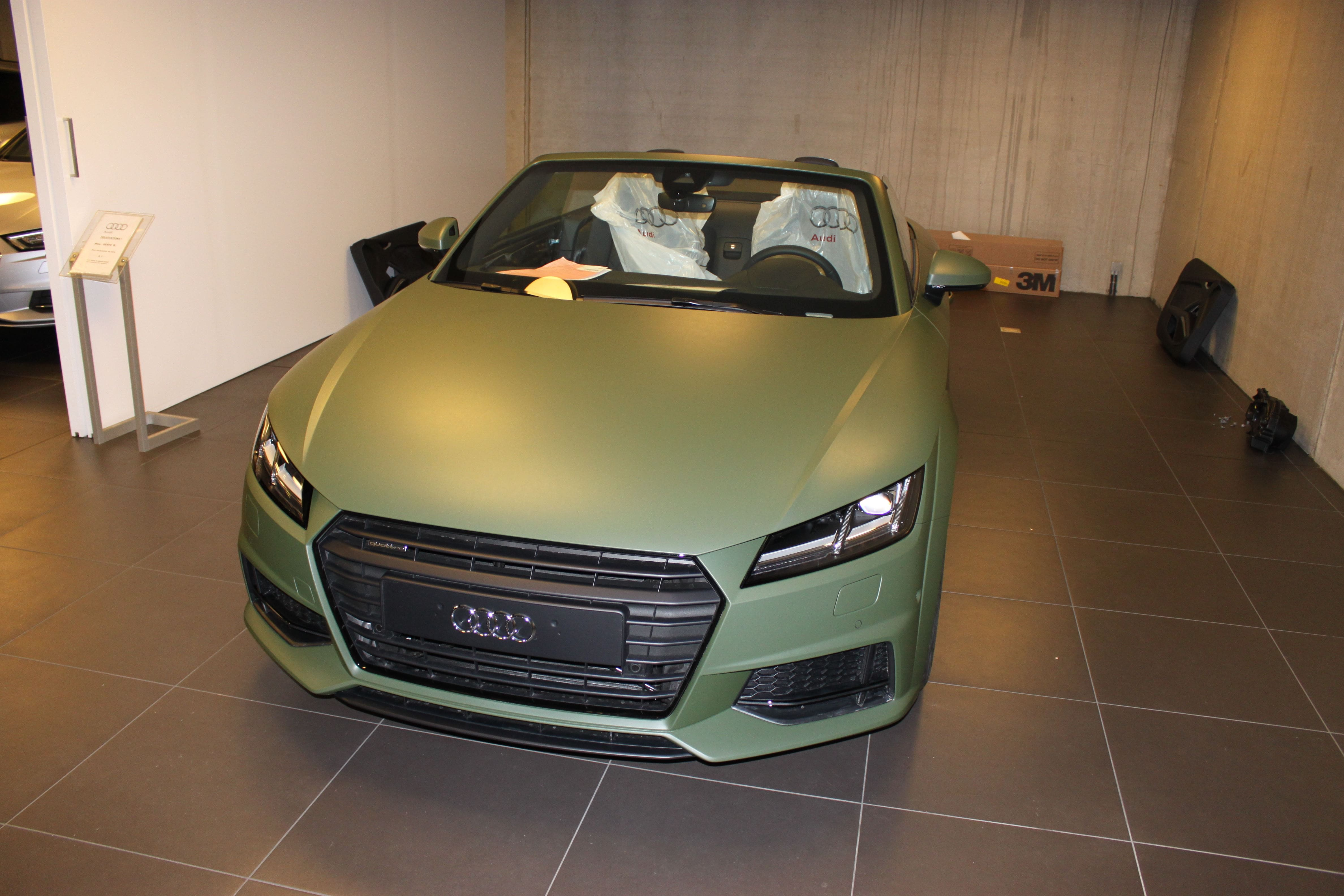 audi TT 2017 matte military green, Carwrapping door Wrapmyride.nu Foto-nr:9266, ©2021