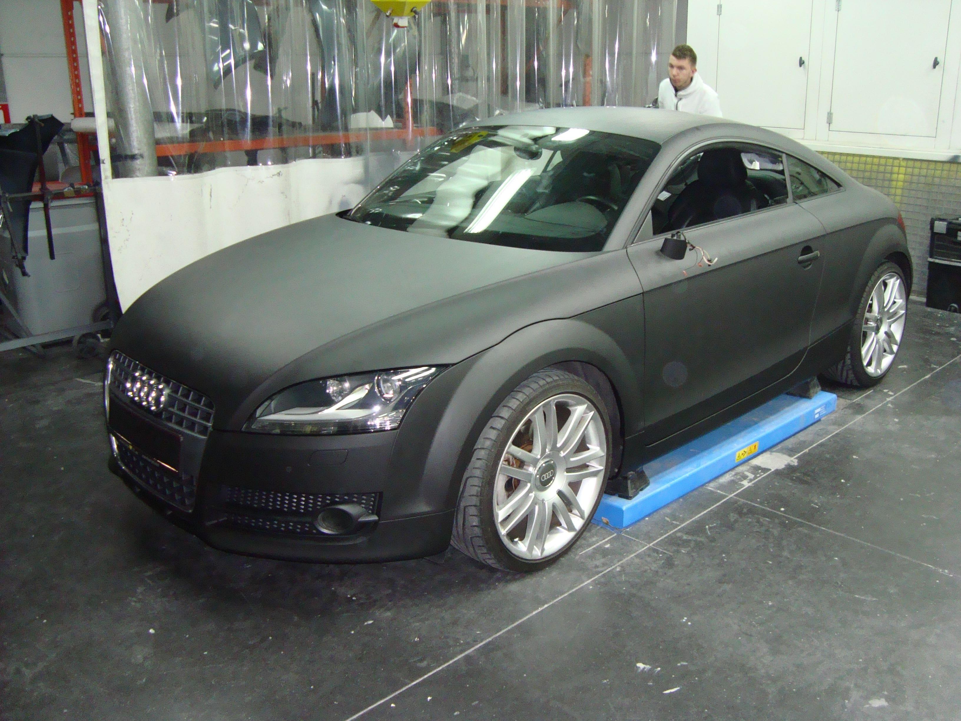 Audi TT met Mat Zwarte Wrap, Carwrapping door Wrapmyride.nu Foto-nr:5107, ©2021