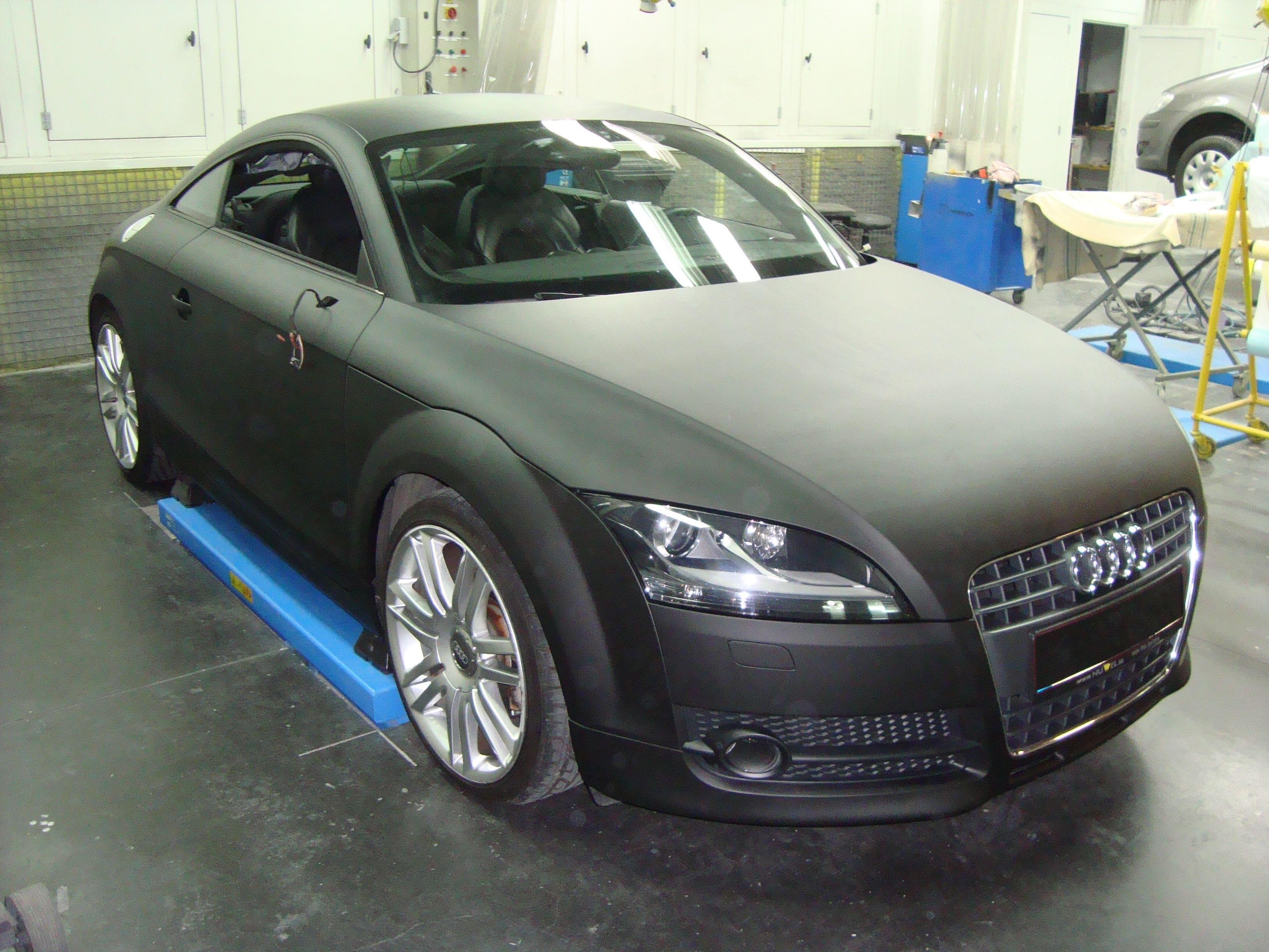 Audi TT met Mat Zwarte Wrap, Carwrapping door Wrapmyride.nu Foto-nr:5109, ©2021