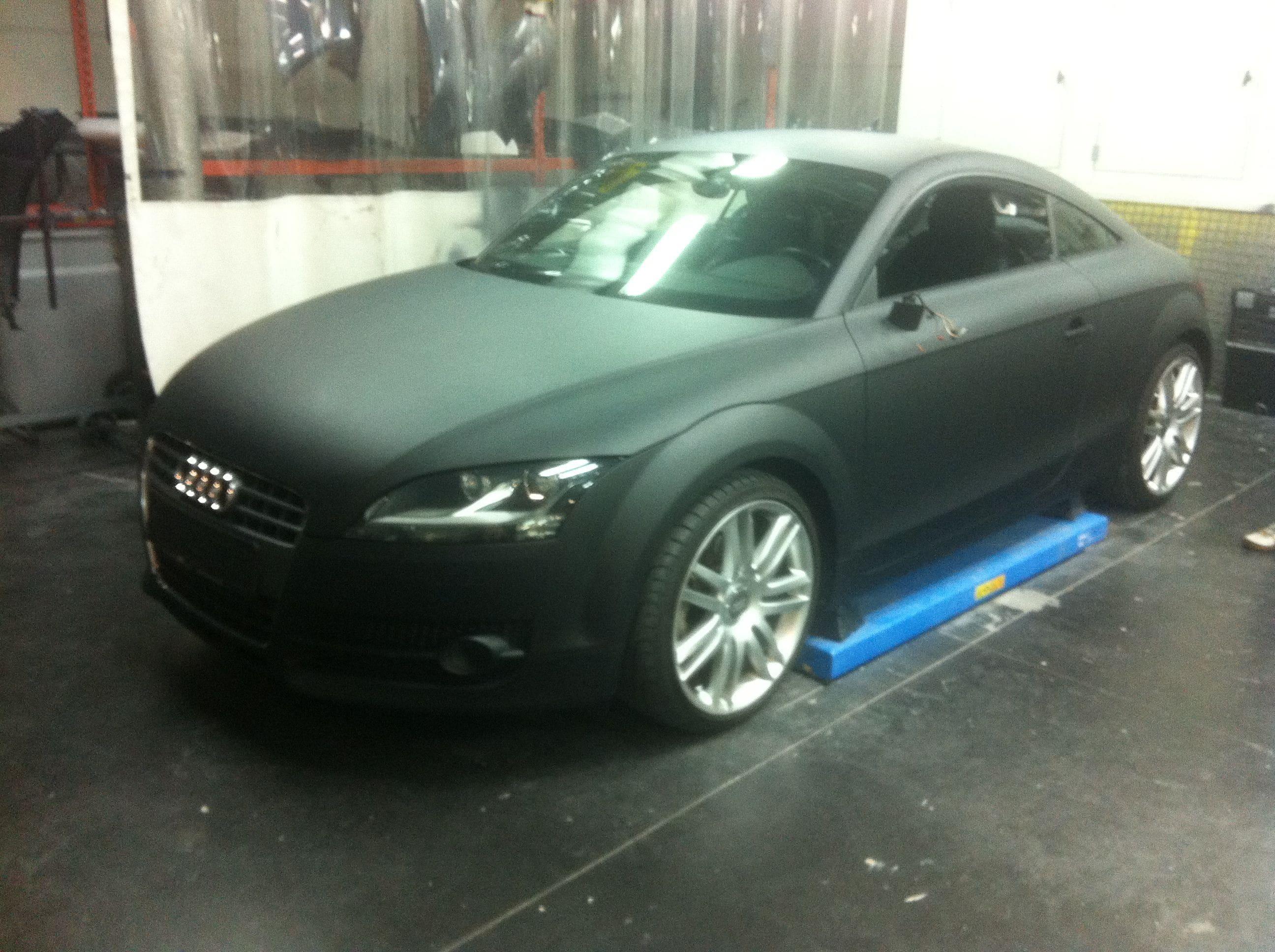 Audi TT met Mat Zwarte Wrap, Carwrapping door Wrapmyride.nu Foto-nr:5110, ©2021
