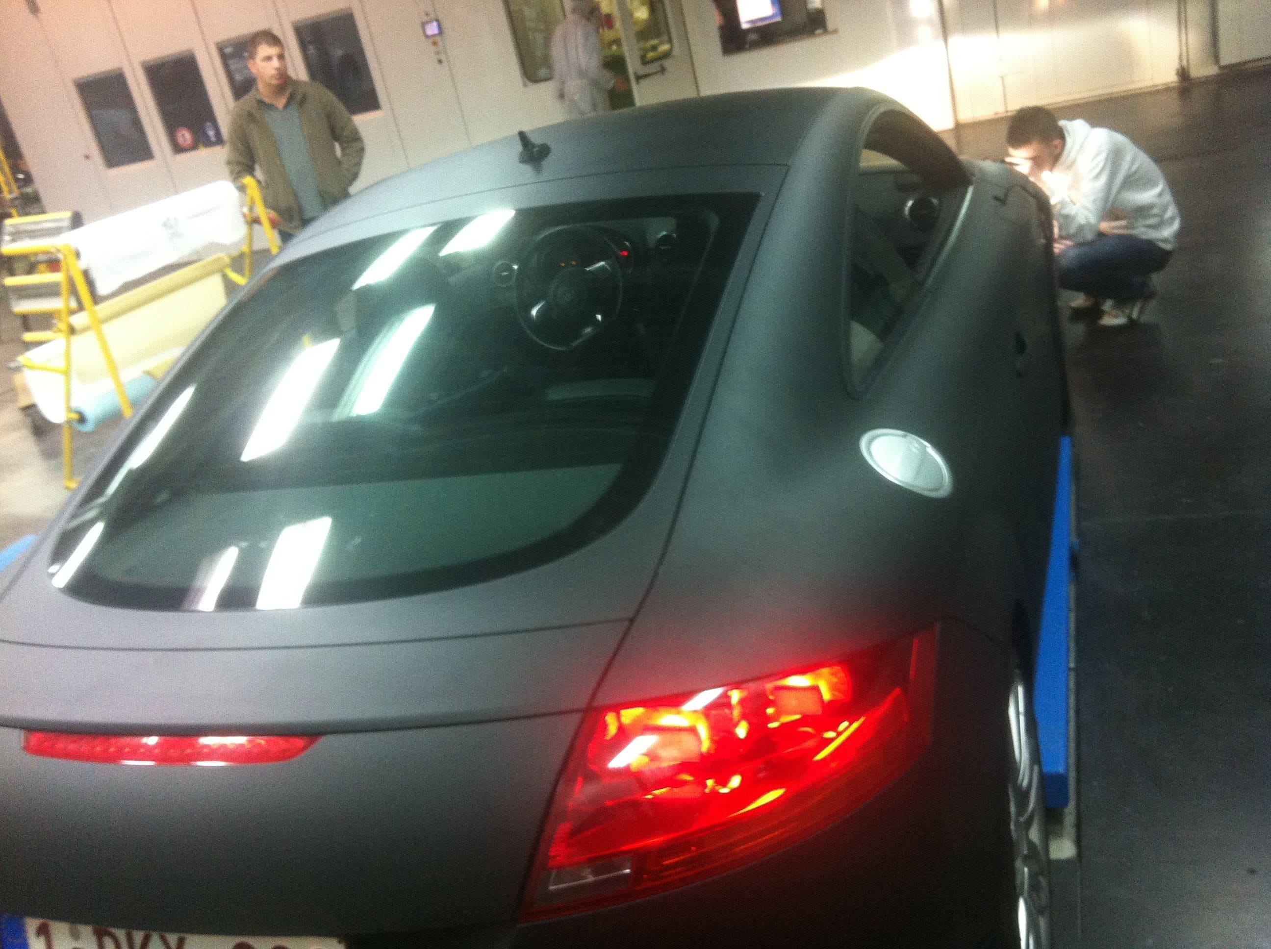 Audi TT met Mat Zwarte Wrap, Carwrapping door Wrapmyride.nu Foto-nr:5111, ©2021