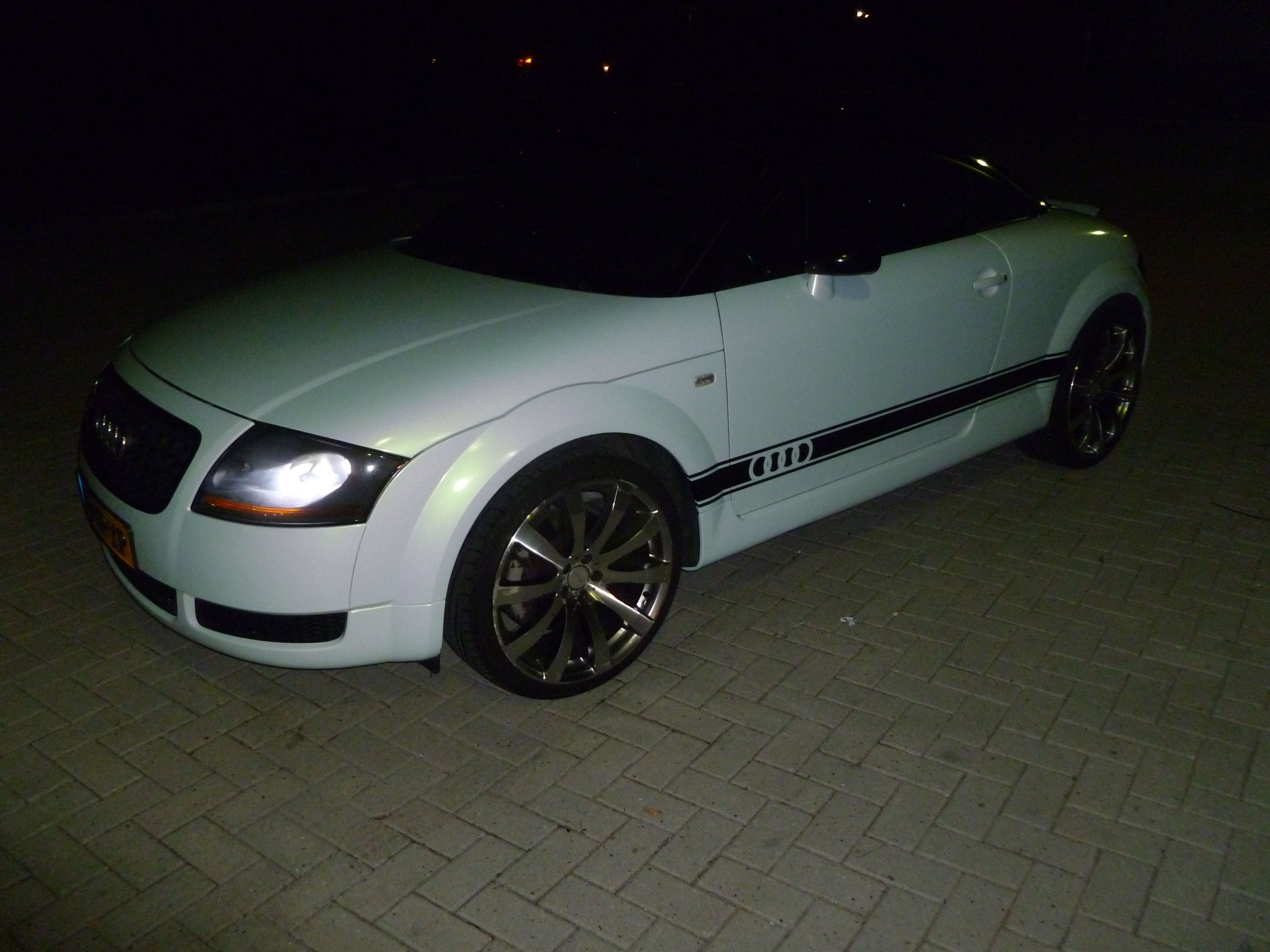 Audi TT met Witte Wrap, Carwrapping door Wrapmyride.nu Foto-nr:5088, ©2021