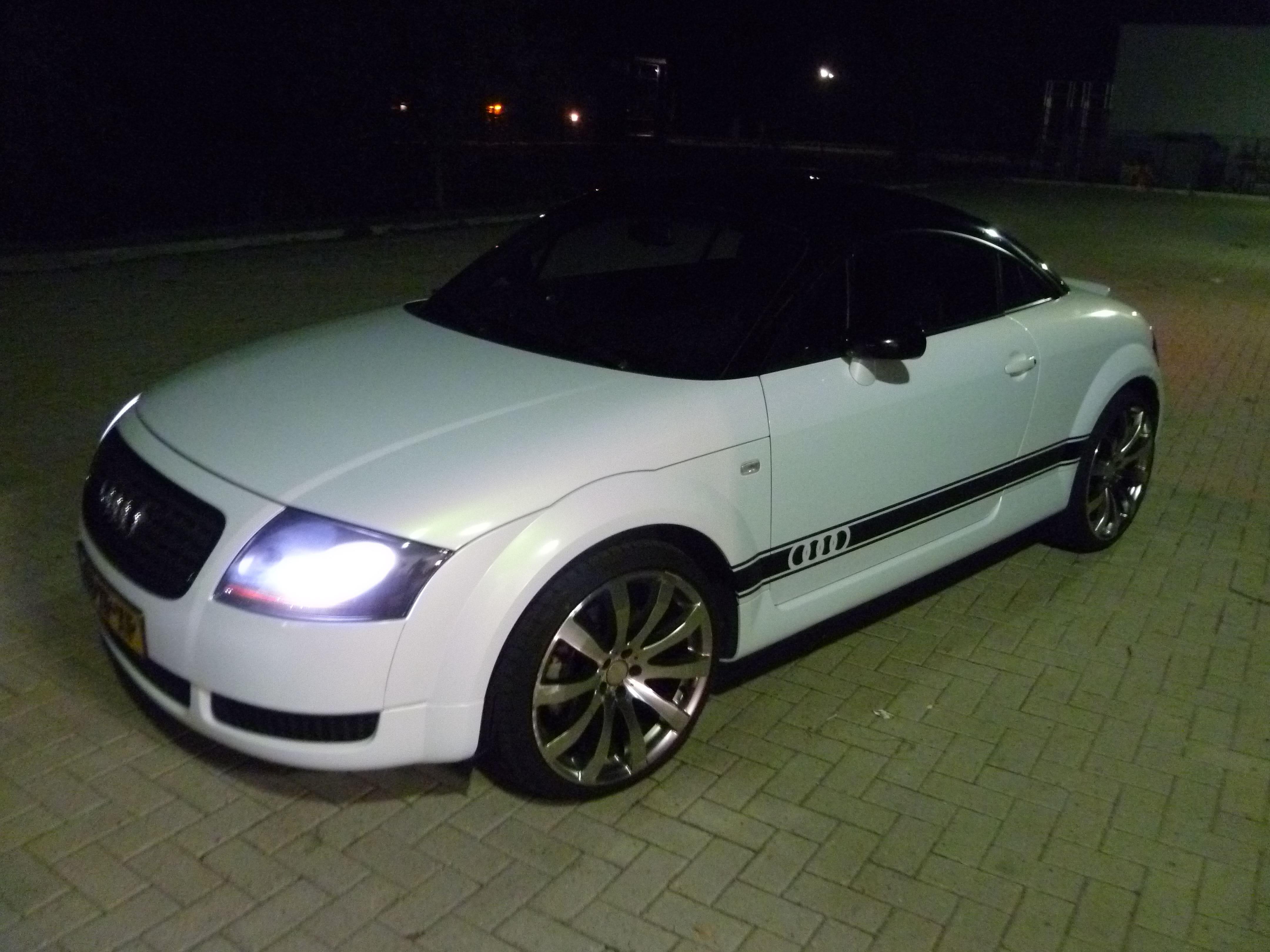 Audi TT met Witte Wrap, Carwrapping door Wrapmyride.nu Foto-nr:5092, ©2021