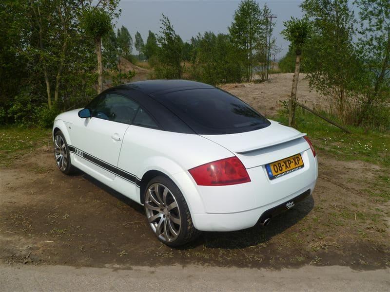 Audi TT met Witte Wrap, Carwrapping door Wrapmyride.nu Foto-nr:5095, ©2021