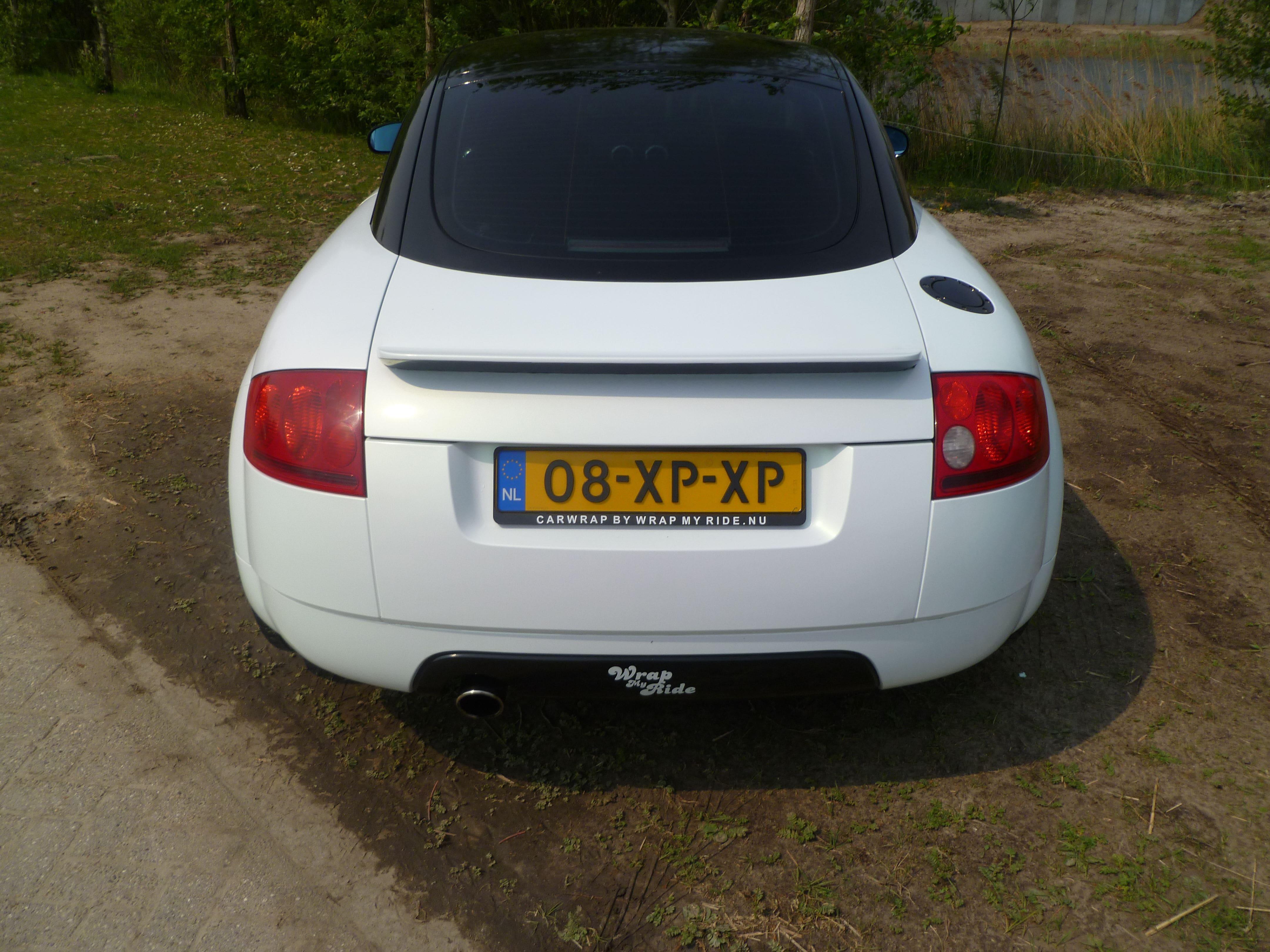 Audi TT met Witte Wrap, Carwrapping door Wrapmyride.nu Foto-nr:5096, ©2021