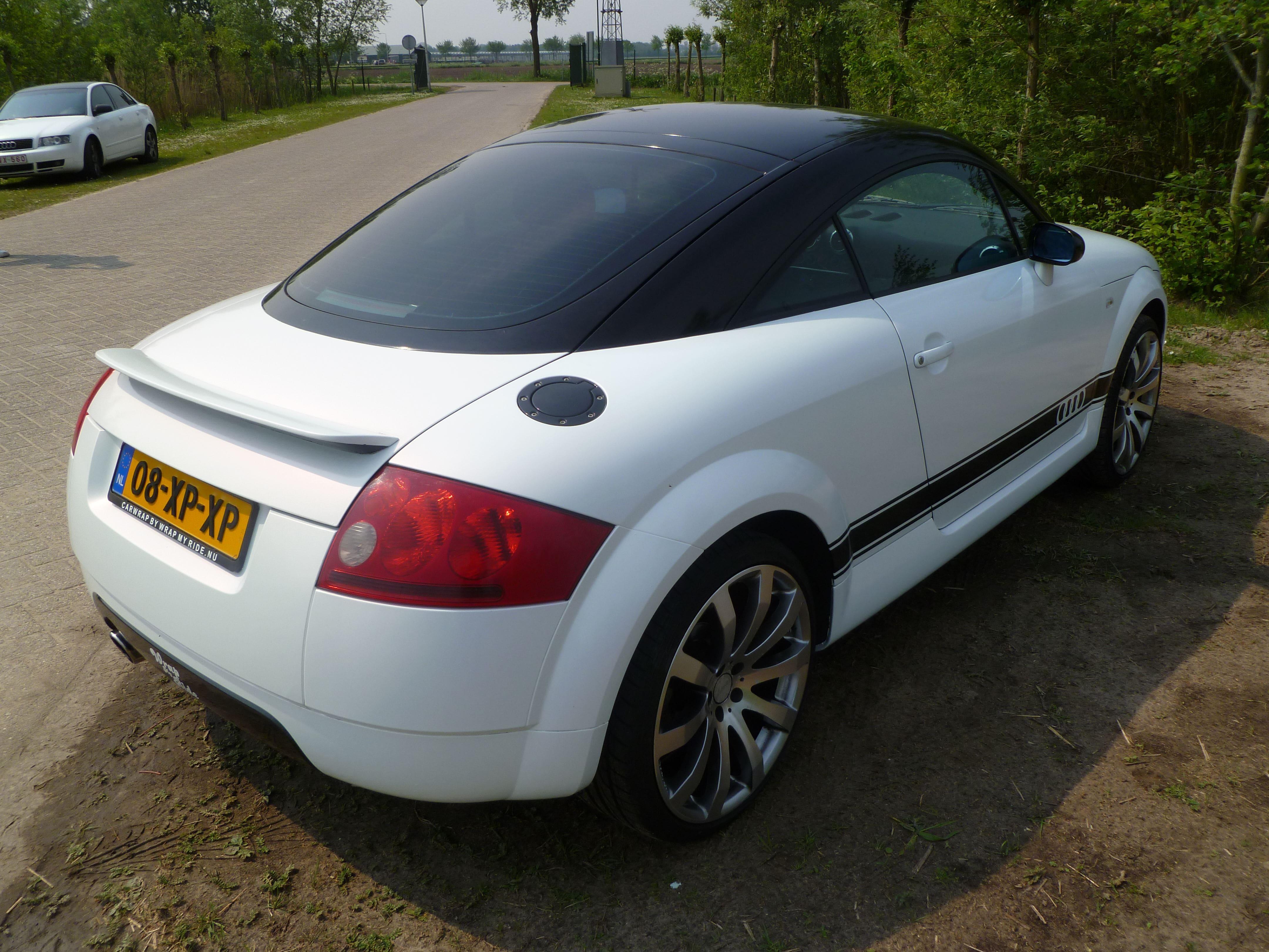 Audi TT met Witte Wrap, Carwrapping door Wrapmyride.nu Foto-nr:5097, ©2021