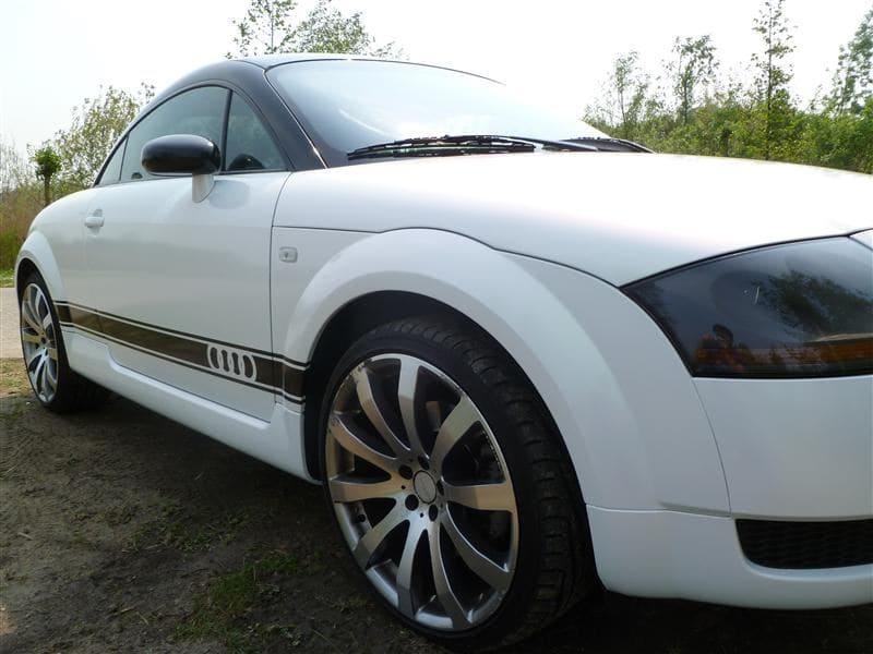 Audi TT met Witte Wrap, Carwrapping door Wrapmyride.nu Foto-nr:5098, ©2021