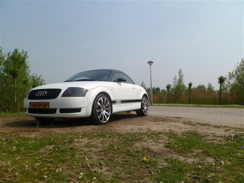 Audi TT met Witte Wrap, Carwrapping door Wrapmyride.nu Foto-nr:5102, ©2021