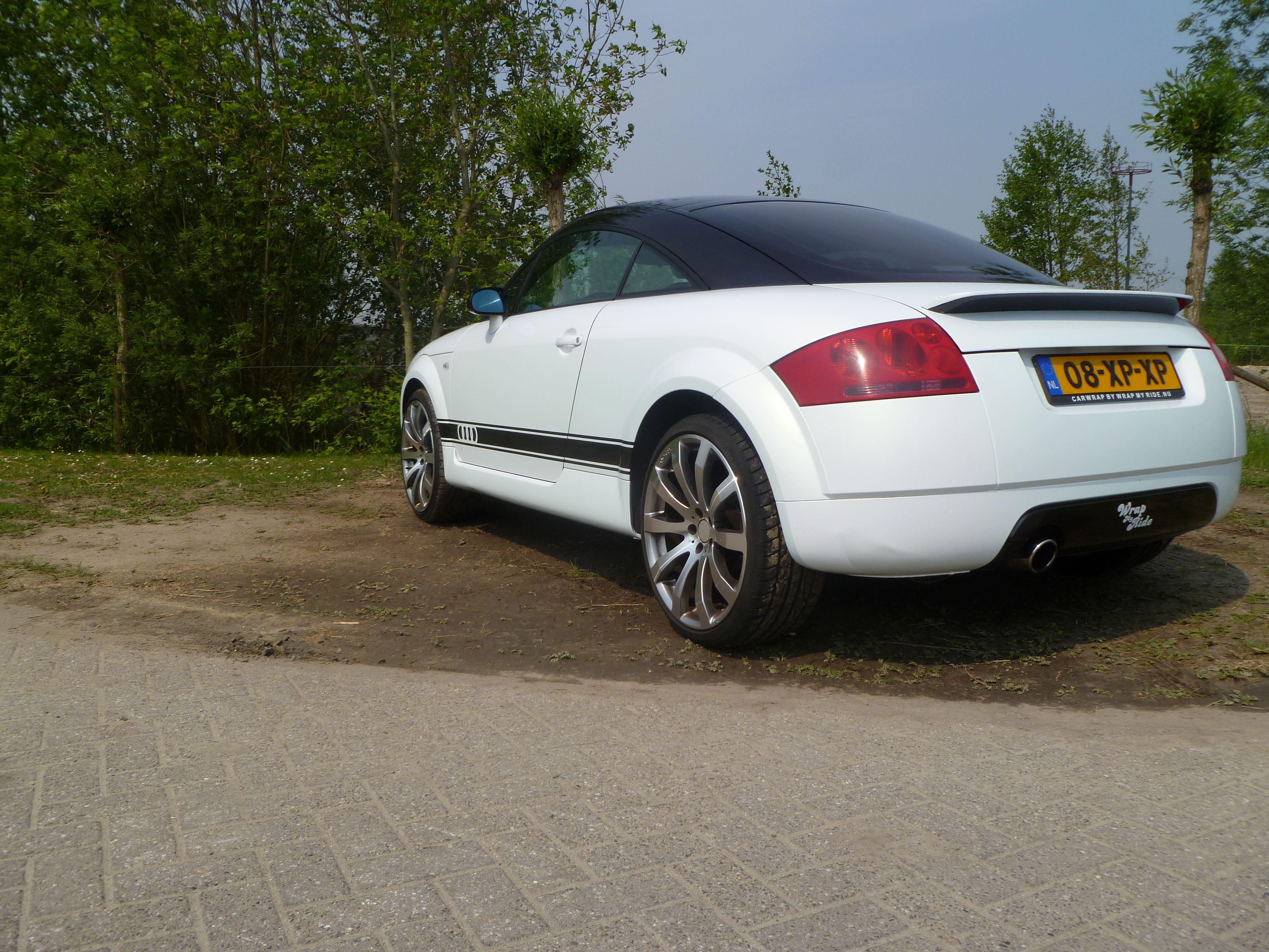 Audi TT met Witte Wrap, Carwrapping door Wrapmyride.nu Foto-nr:5103, ©2021