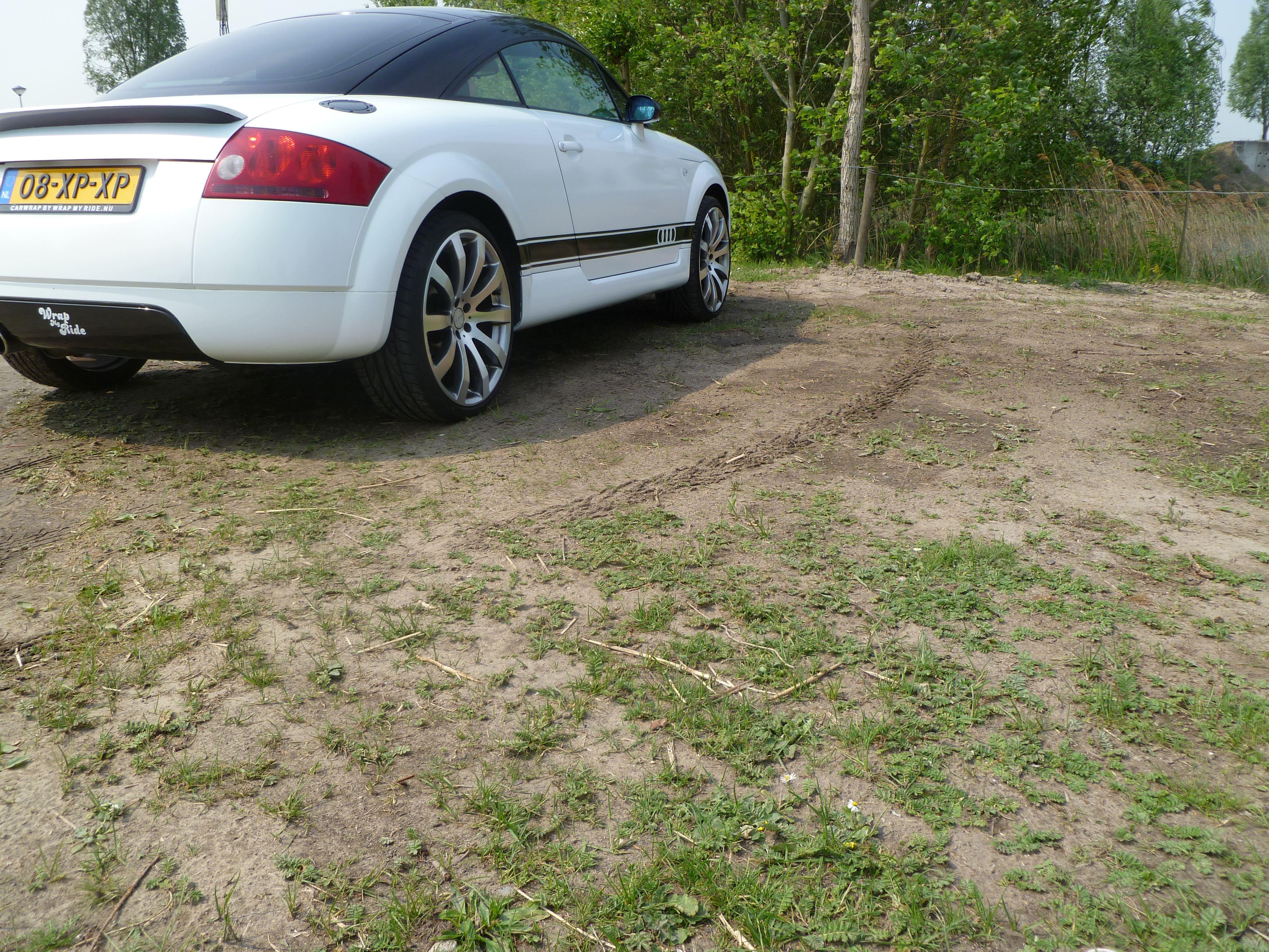 Audi TT met Witte Wrap, Carwrapping door Wrapmyride.nu Foto-nr:5104, ©2021
