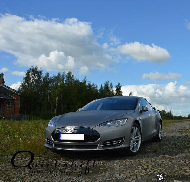 Tesla model S, Carwrapping door Wrapmyride.nu Foto-nr:8969, ©2020