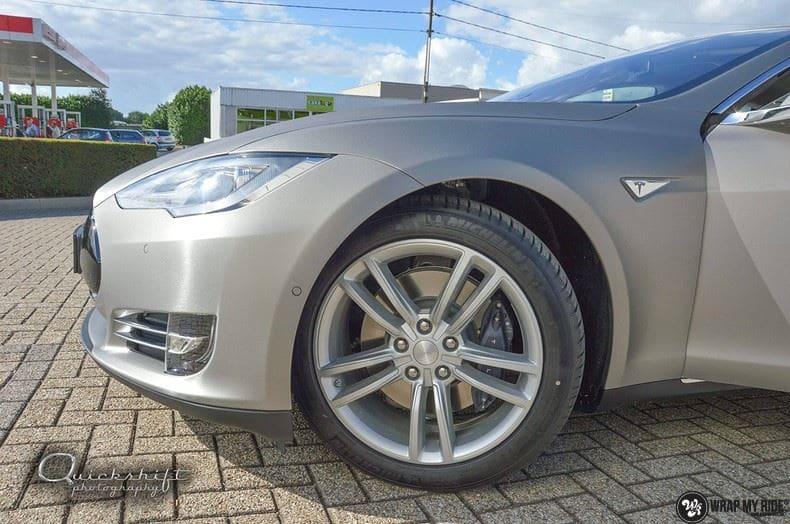 Tesla model S, Carwrapping door Wrapmyride.nu Foto-nr:8967, ©2021